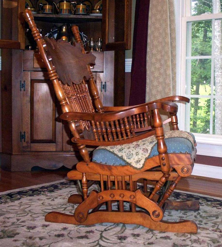 Furniture Detective: Glider Rocker With 1888 Patent Is Inside Oak Carved Rocking Chairs Chairs (#14 of 20)
