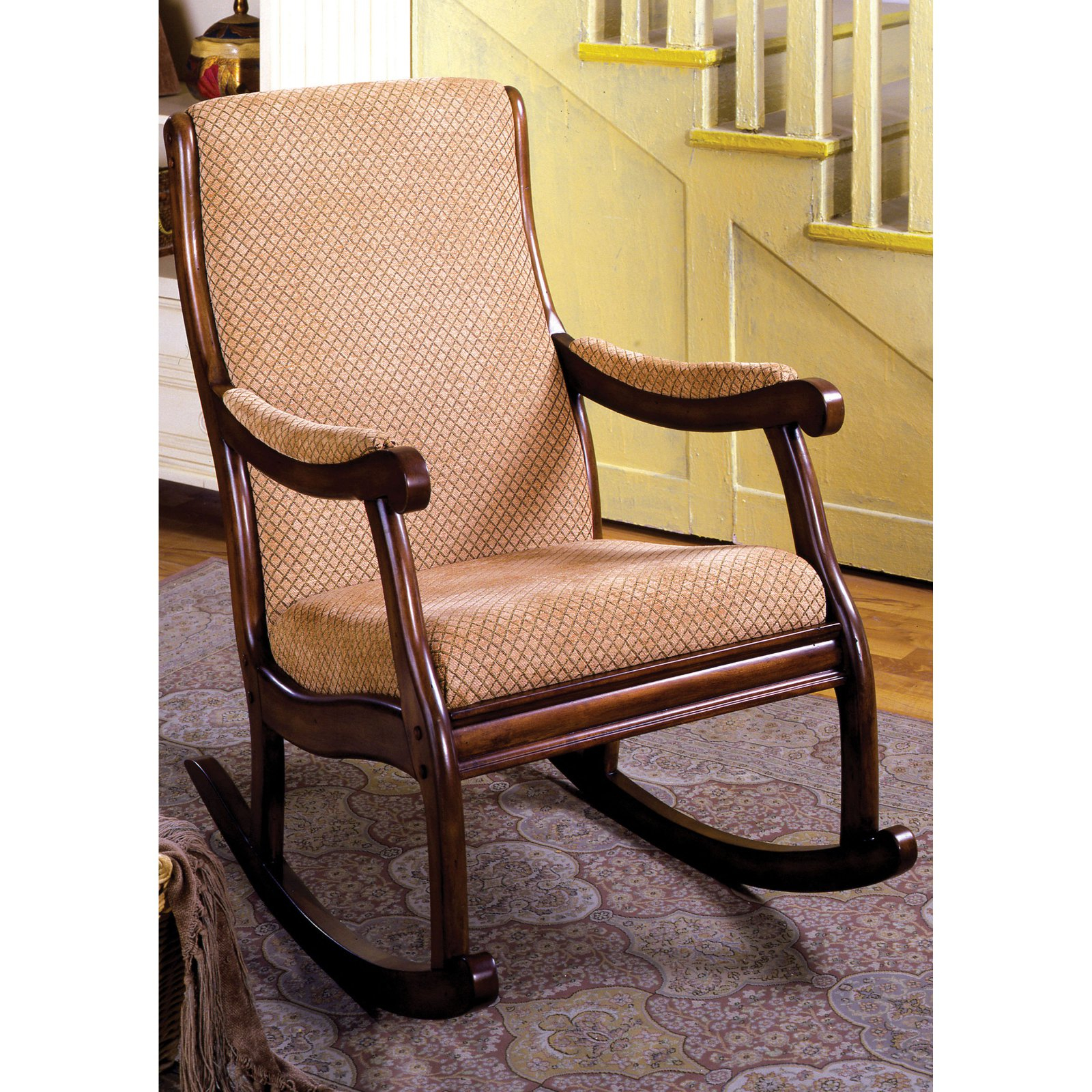 Furniture Of America Bernardette Upholstered Rocking Chair Throughout Padded Rocking Chairs (#10 of 20)