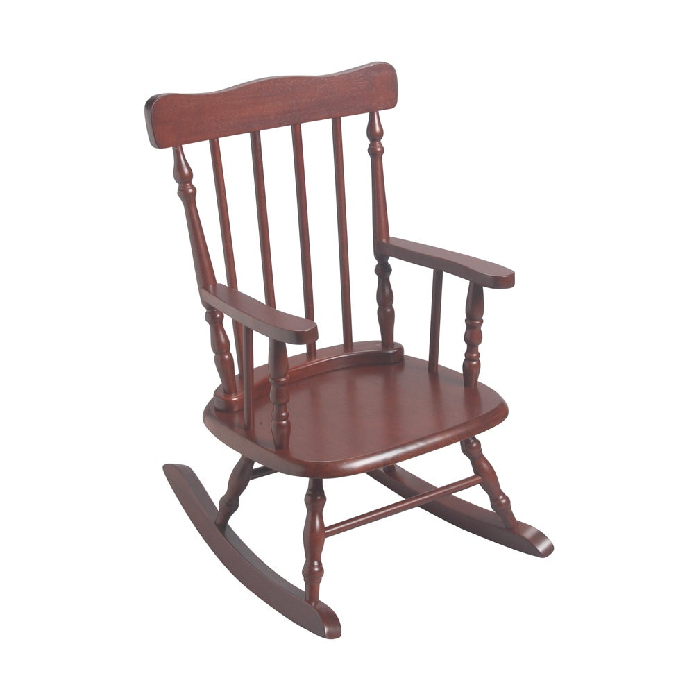 Gift Mark Home Kids Cherry Finish Rocking Chair Regarding Colonial Cherry Finish Rocking Chairs (#13 of 20)
