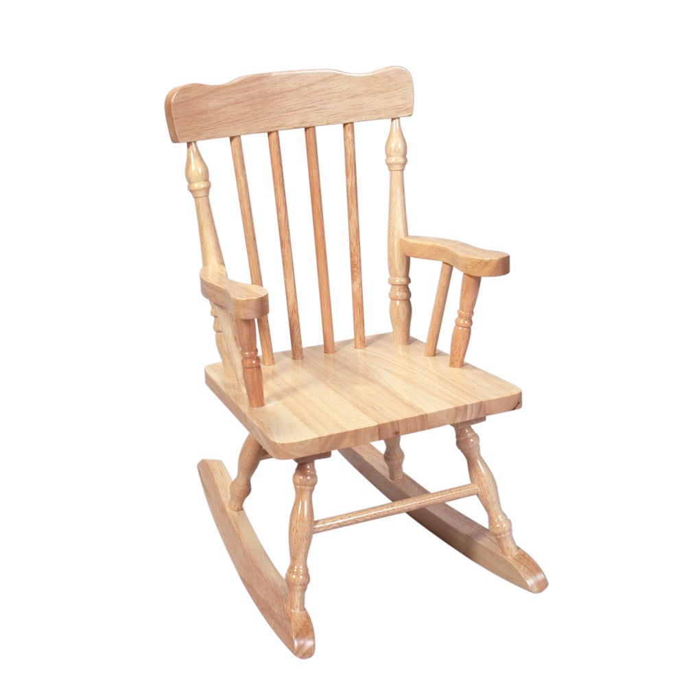 Inspiration about Gift Mark Home Kids Children Resting Spindle Natural Rocking Chair Inside Tobacco Brown Kids Rocking Chairs (#11 of 20)