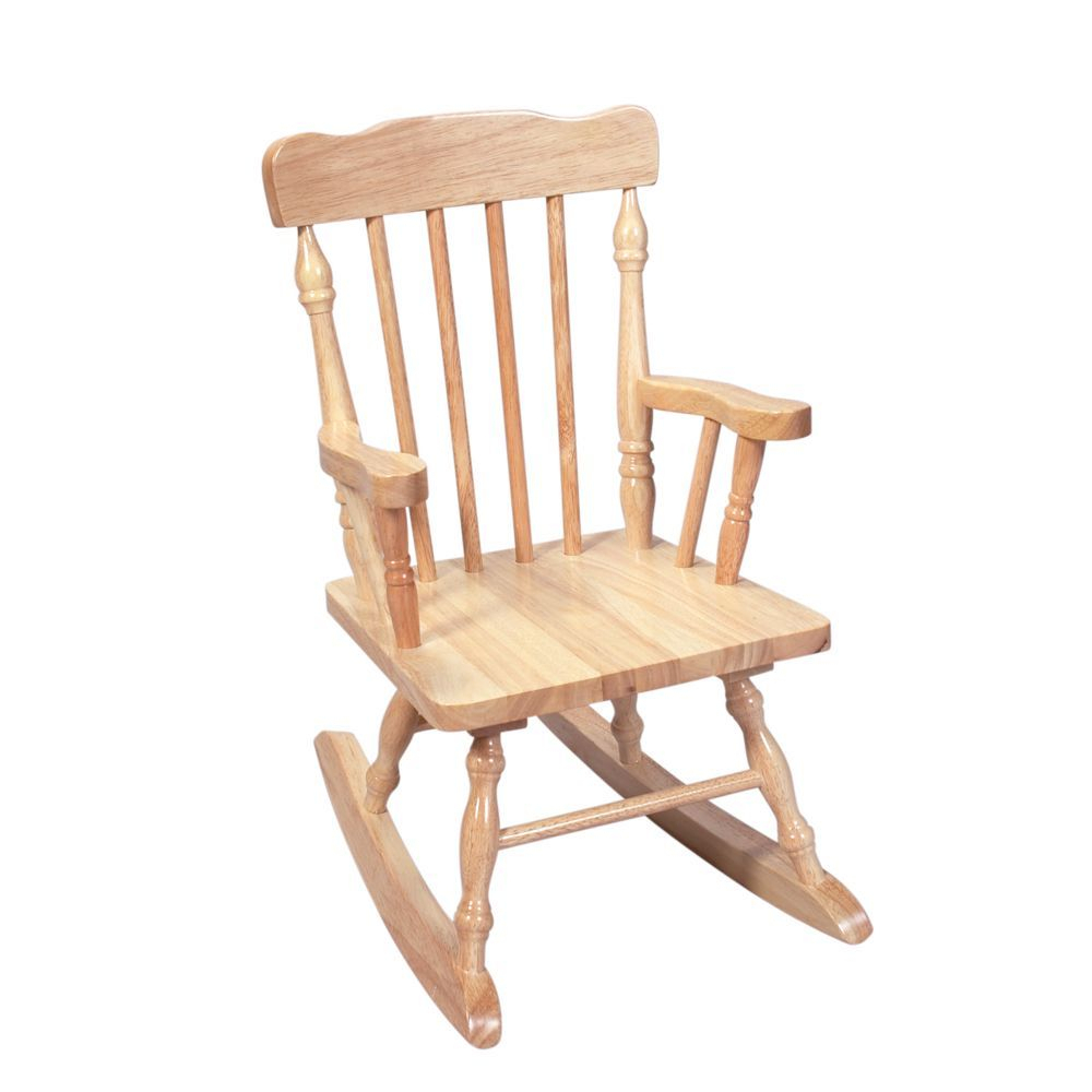 Gift Mark Home Kids Children Resting Spindle Rocking Chair Within Colonial Cherry Finish Rocking Chairs (#14 of 20)