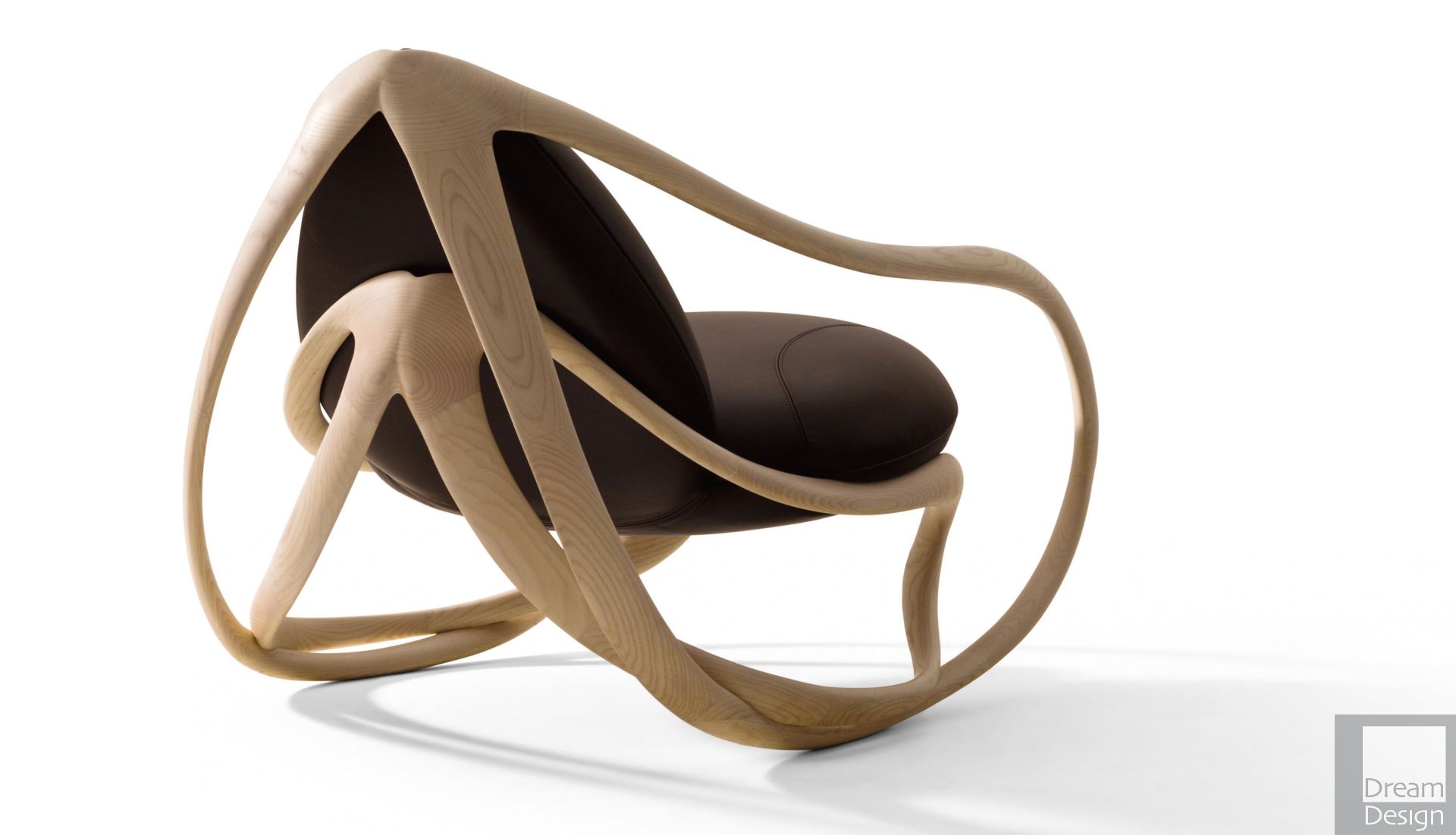 Inspiration about Giorgetti Move Rocking Armchairrossella Pugiatti – Everything But  Ordinary With Tobacco Brown Wooden Rocking Chairs (#20 of 20)