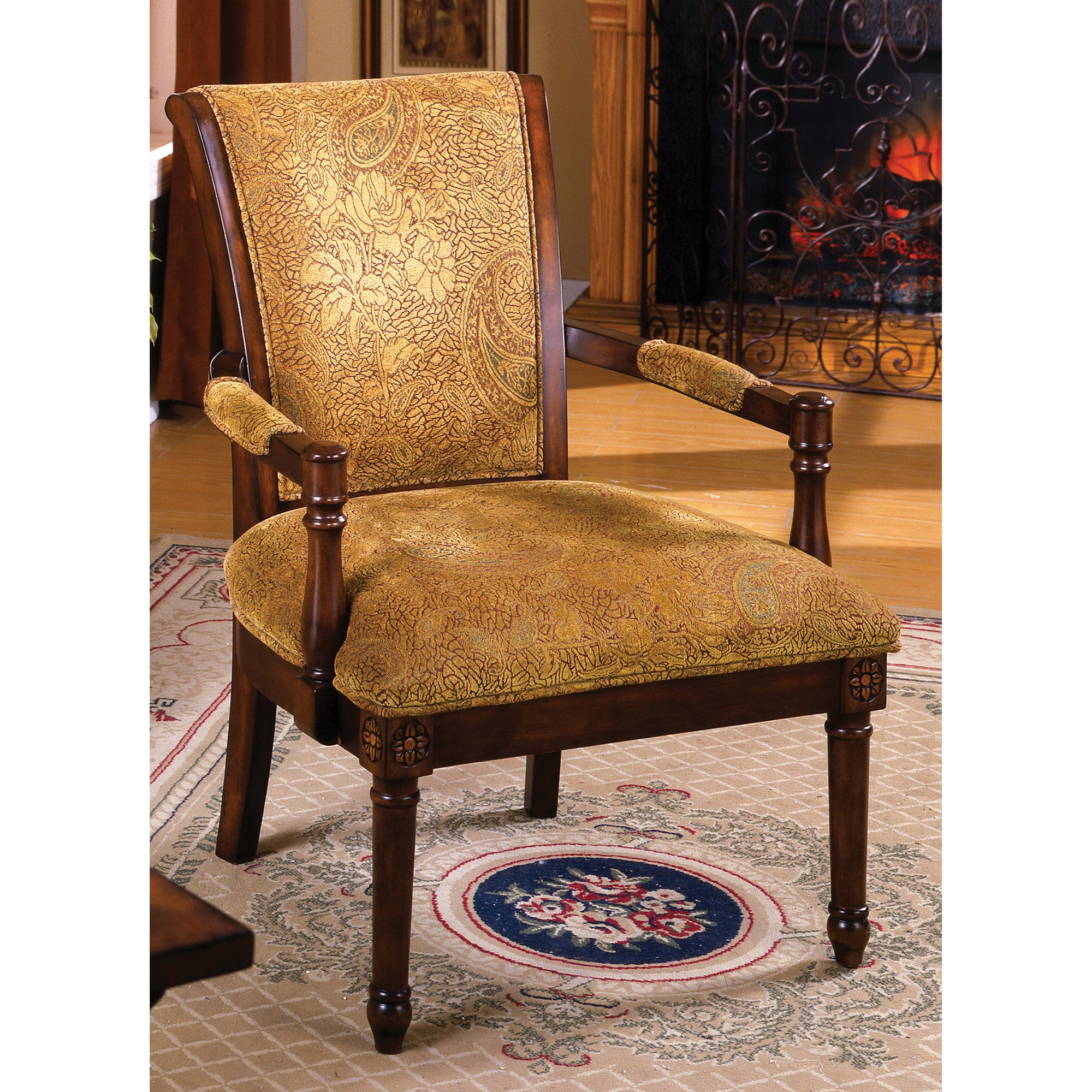 Inspiration about Gracewood Hollow Avant Antique Oak Wood Accent Chair Inside Rosewood Traditional Dark Oak Rocking Accent Chairs (#20 of 20)