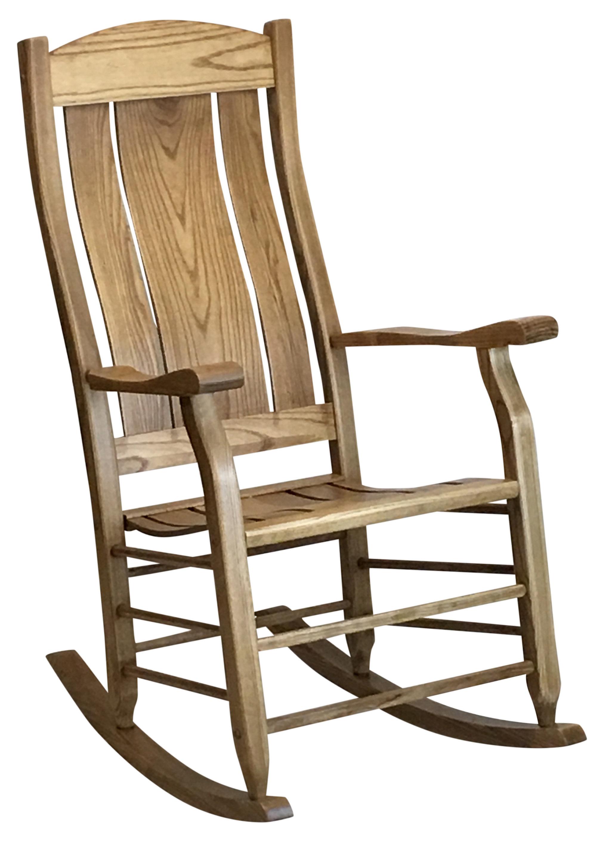 Inspiration about Grindle Slat Back Rocking Chair Within Warm Brown Slat Back Rocking Chairs (#3 of 20)