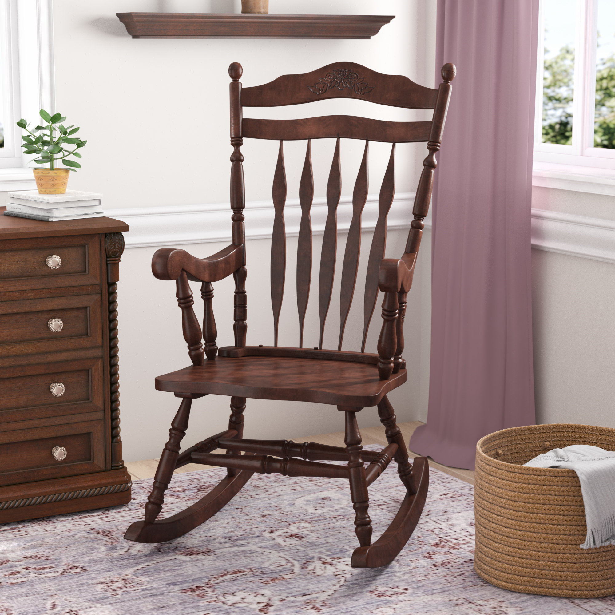 Hanlon Rocking Chair With Regard To Espresso Brown Rocking Chairs (#11 of 20)
