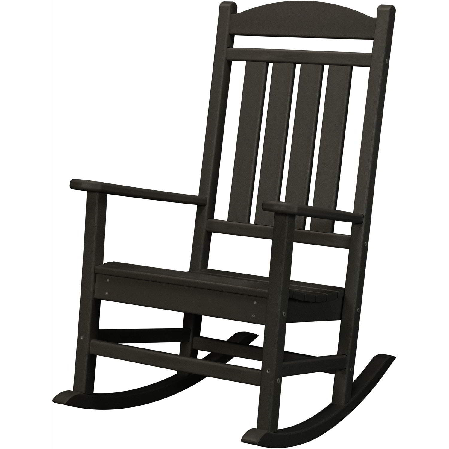 Hanover All Weather Pineapple Cay Porch Rocker – Black, Hvr100Bl Inside Traditional Wooden Porch Rocking Chairs (#8 of 20)