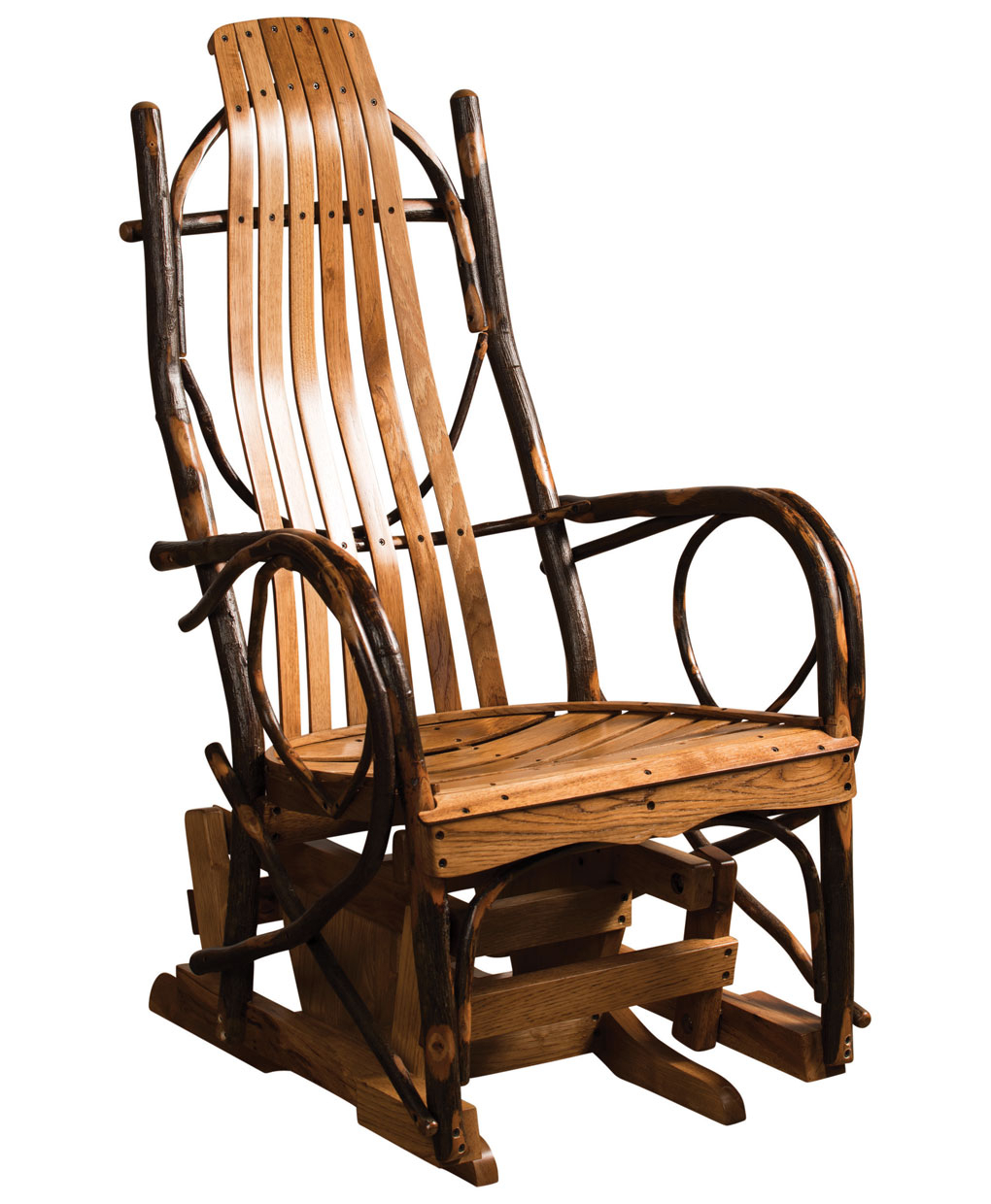 Hickory Glider Regarding Tobacco Brown Kids Rocking Chairs (View 18 of 20)