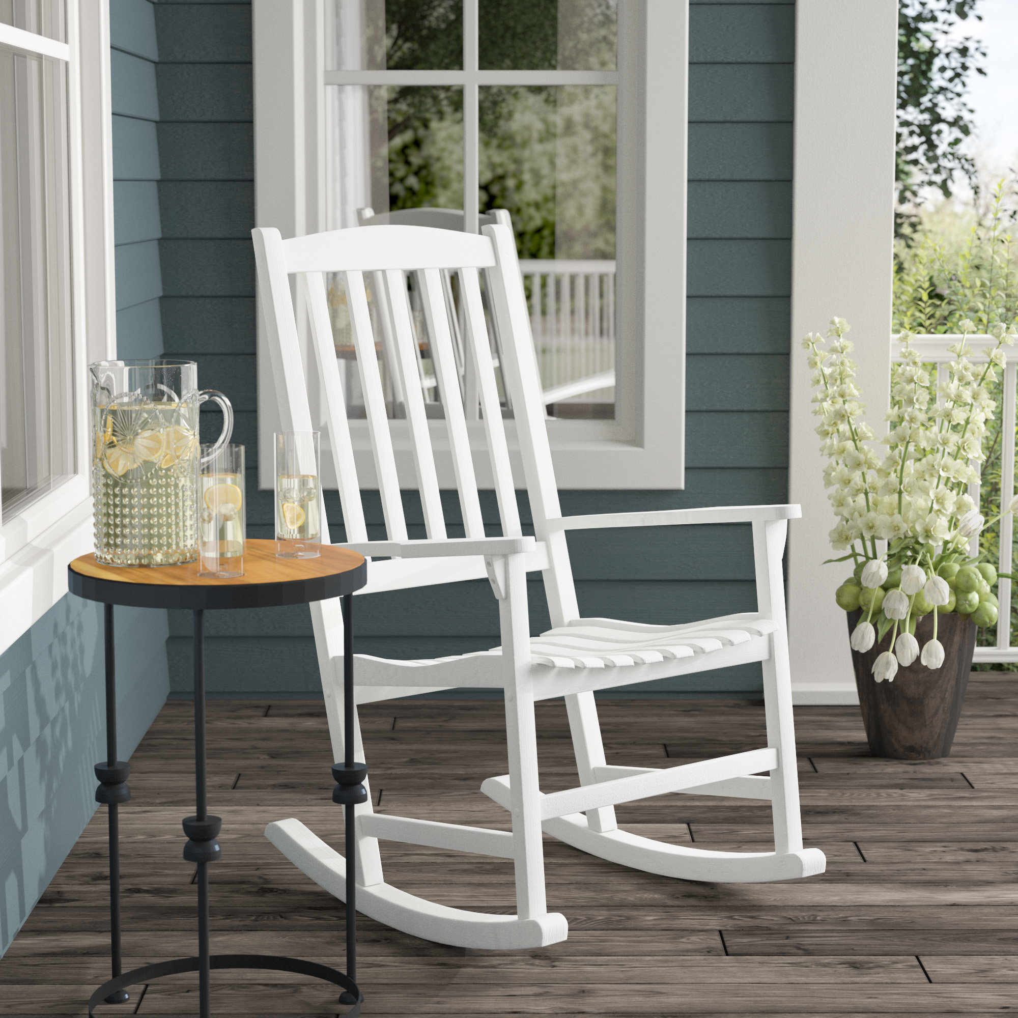 High Back Rocking Chair You'll Love In 2019 | Wayfair With Regard To Rocking Chairs In Linen Fabric With Brushed Finish Base (#4 of 20)