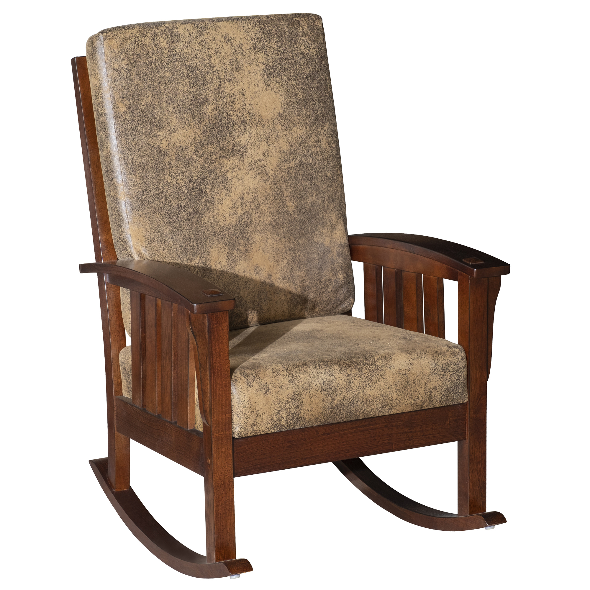 Homcom Faux Suede Rubberwood Indoor Porch Rocking Chair Intended For Black Rubberwood Rocking Chairs (#5 of 20)