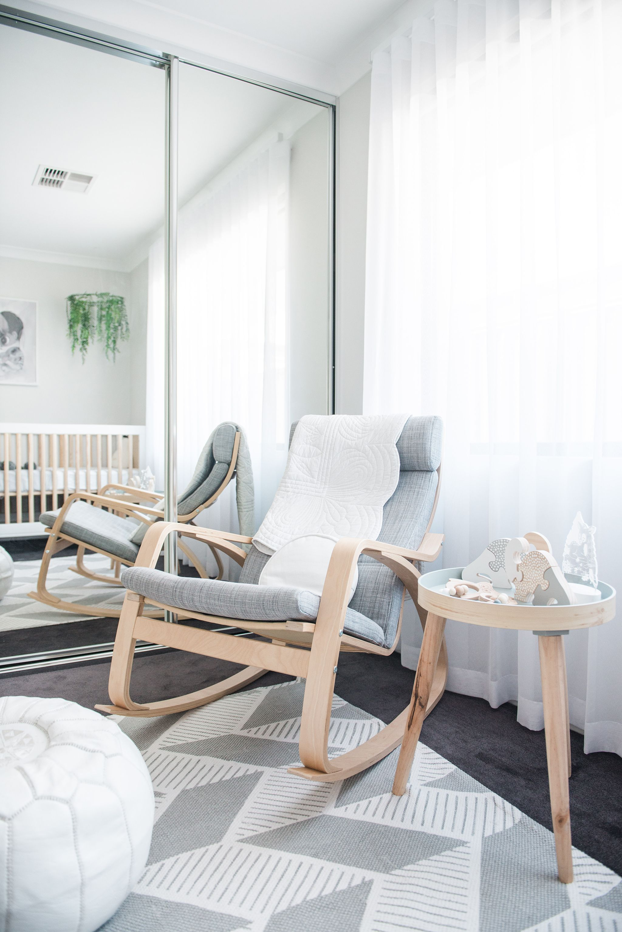 In The Nursery With Nashstyling | Gray Nursery | Rocking Within Wooden Baby Nursery Rocking Chairs (#10 of 20)