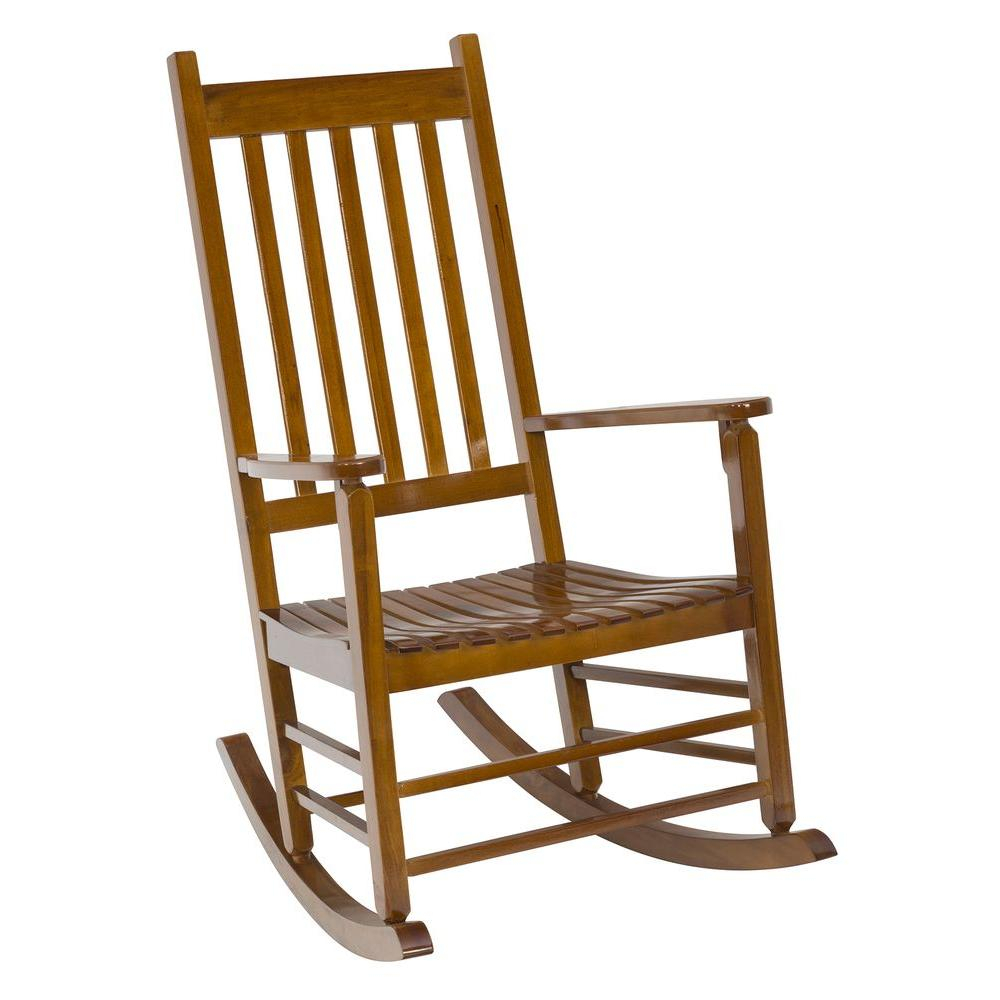 Jack Post Natural Mission Patio Rocker In Natural Brown Wood Folding Rocking Chairs (#13 of 20)