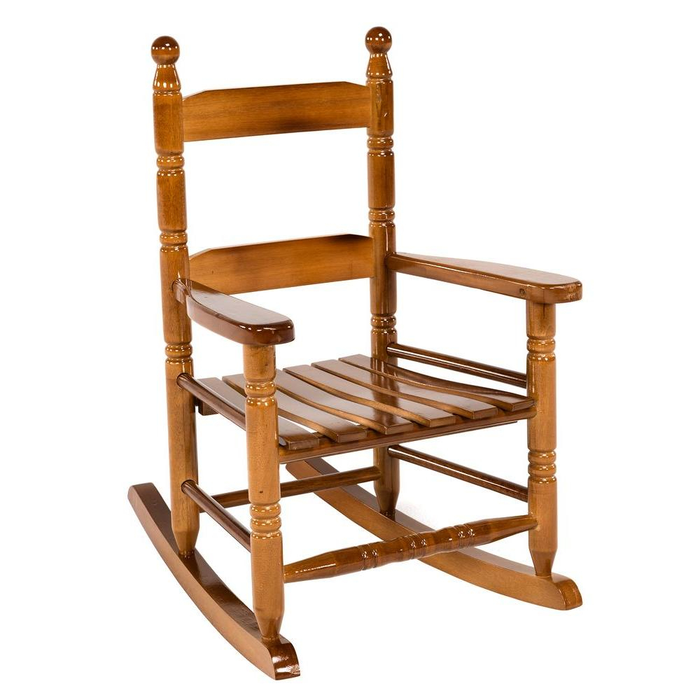 Jack Post Oak Children's Patio Rocker Within Brown Wood Youth Rocking Chairs (#12 of 20)