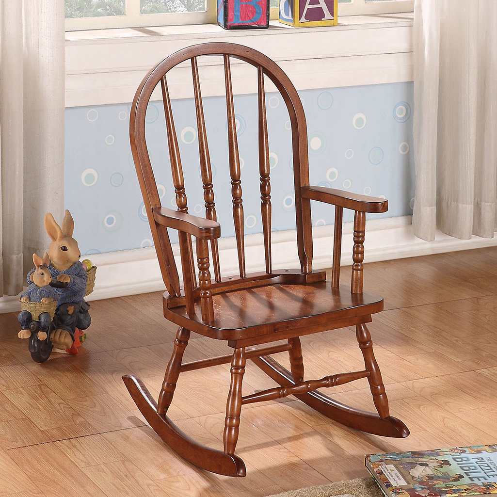 Jacky Rocking Chair Inside Tobacco Brown Wooden Rocking Chairs (#9 of 20)