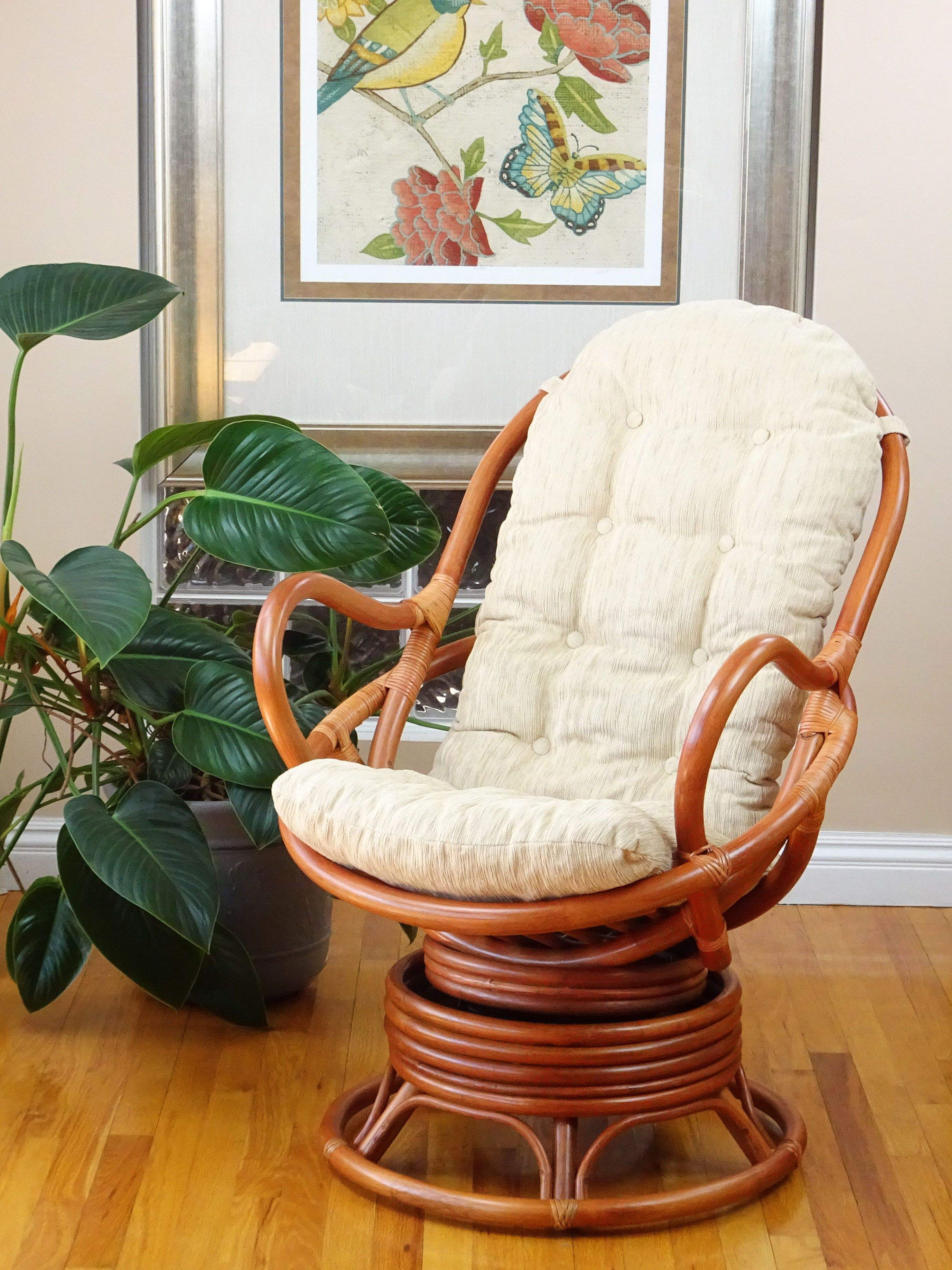 Java Chair In 2019 | Indoor Wicker Furniture | Rocking Chair With Rocking Chairs, Cream And Brown (#9 of 20)