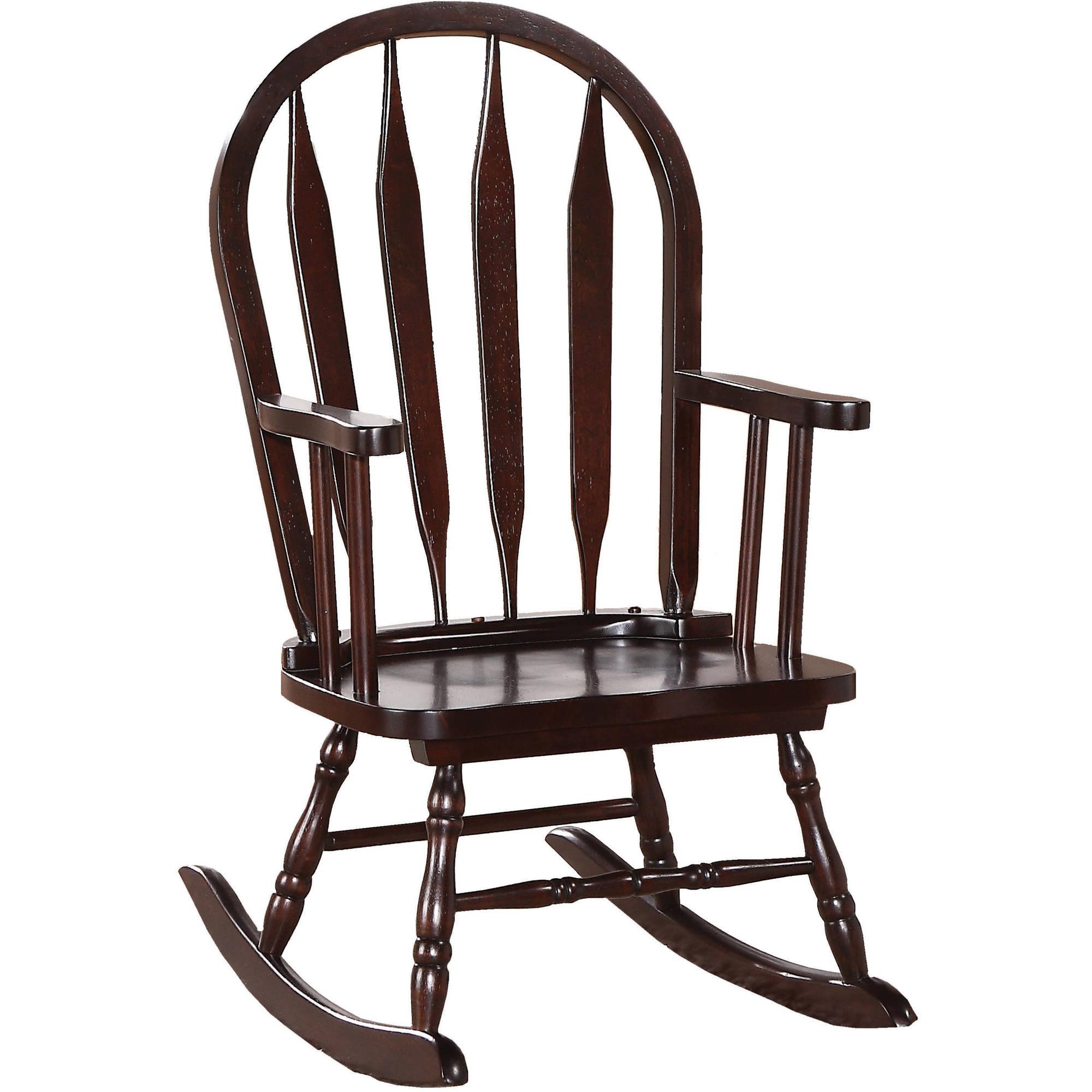 Juvenile Arrow Back Rocking Chair, Cappuccino Throughout Cappuccino Curved Rocking Chairs (#10 of 20)