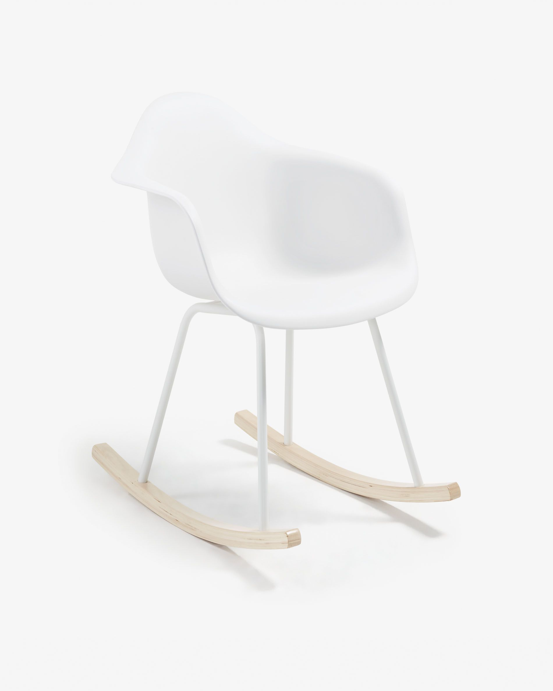 Kevya Rocking Chair White | Kave Home Pertaining To Folding Bentwood Rocking Chairs With Extendable Footrest And Removable Cover (#20 of 20)