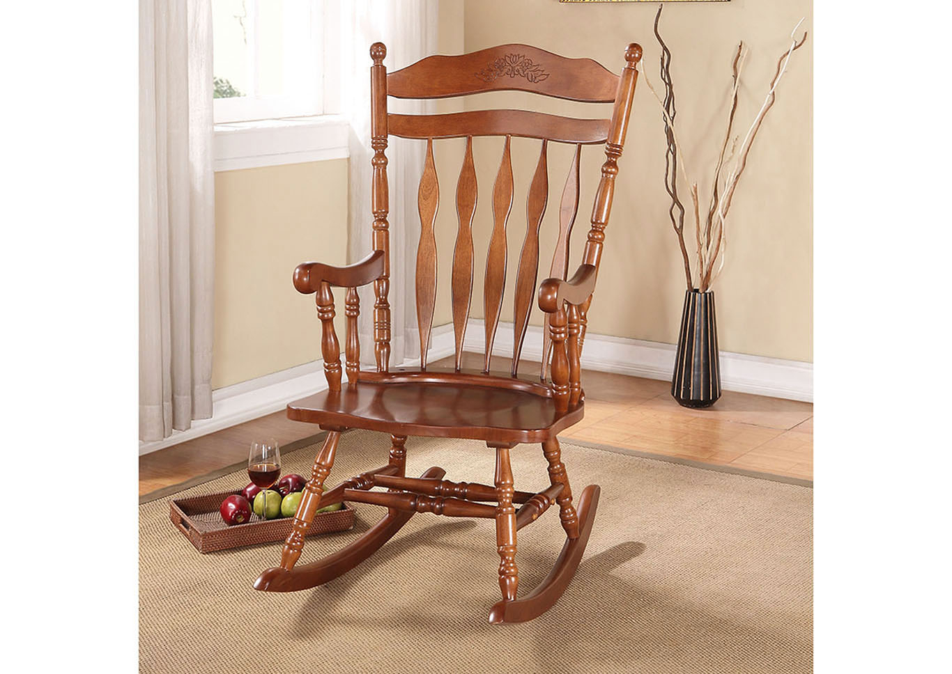 King Of Chairs Kloris Dark Walnut Rocking Chair For Dark Walnut Rocking Chairs (View 6 of 20)