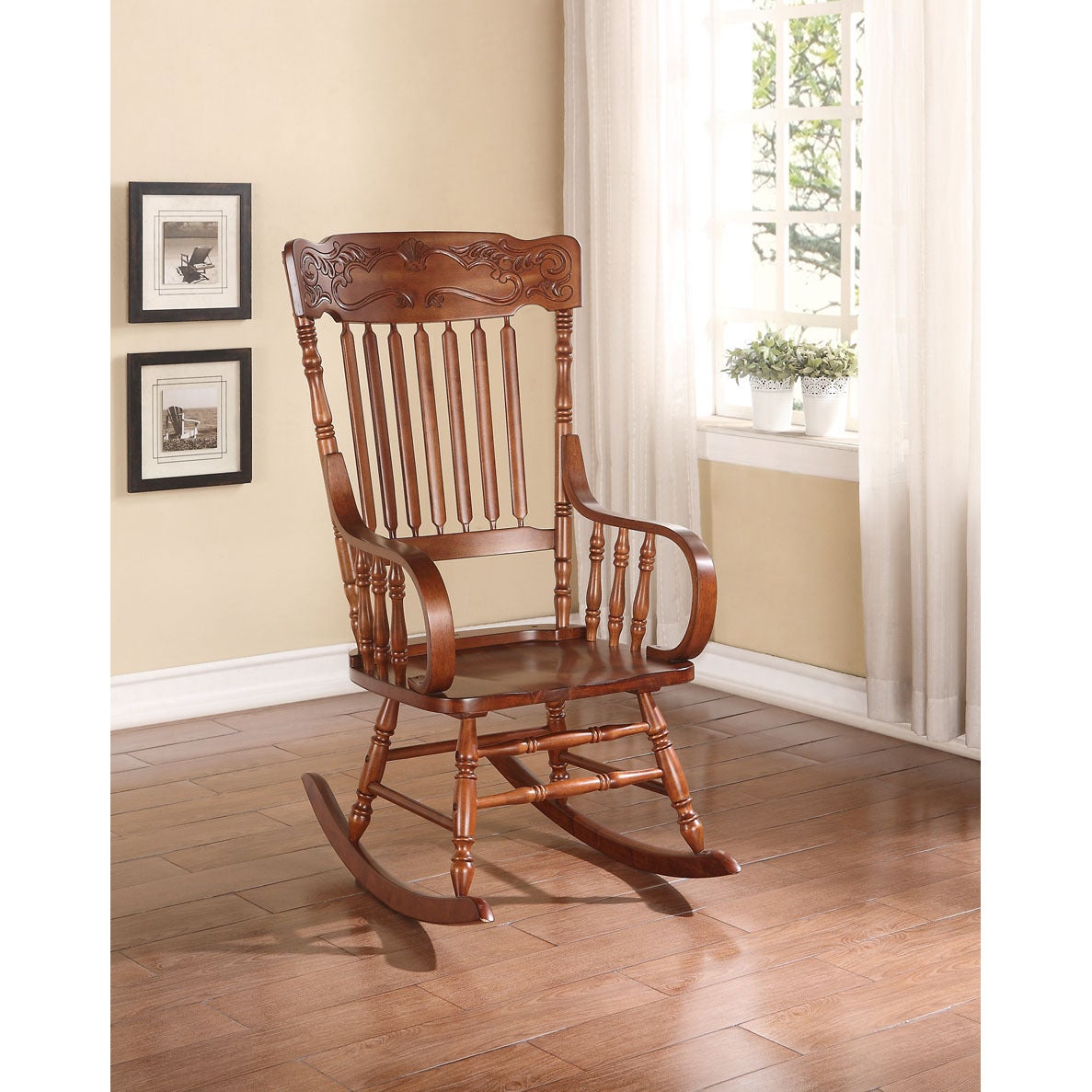 Kloris Tobacco Rocking Chair Pertaining To Tobacco Rocking Chairs (#12 of 20)