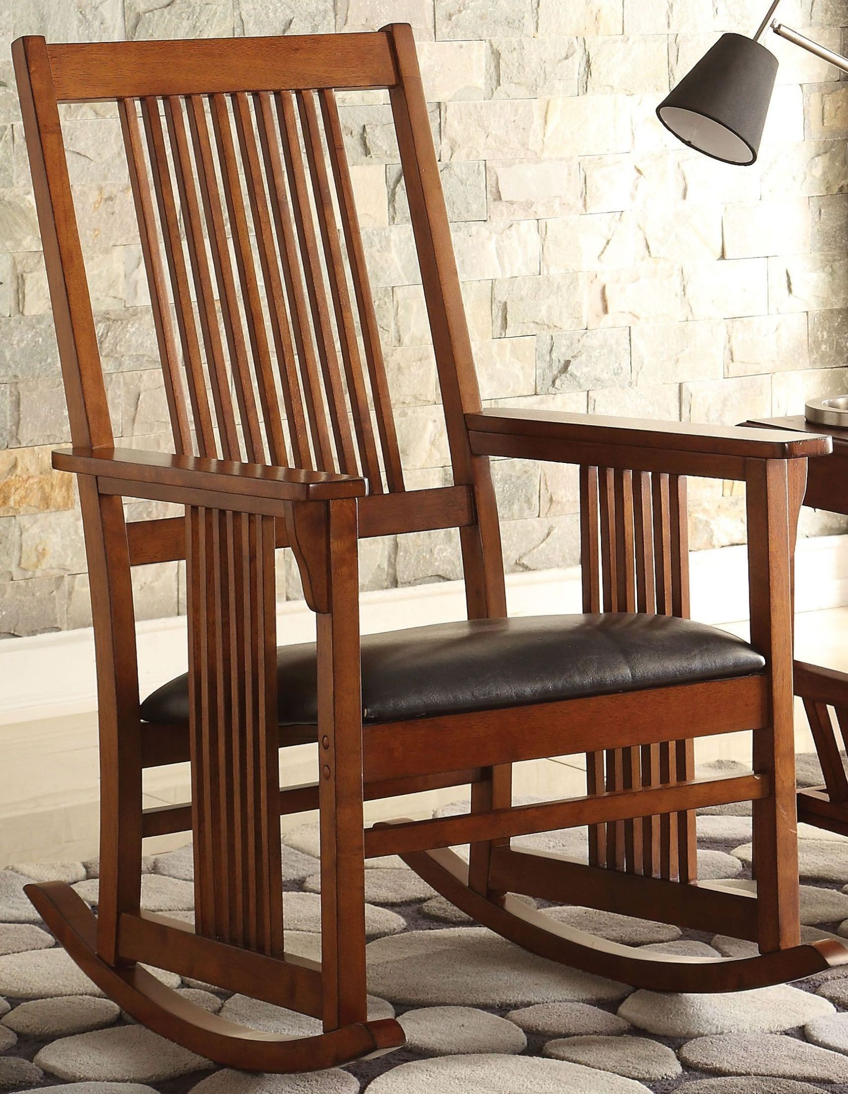 Kloris Tobacco Wooden Rocking Chair Inside Tobacco Rocking Chairs (#14 of 20)