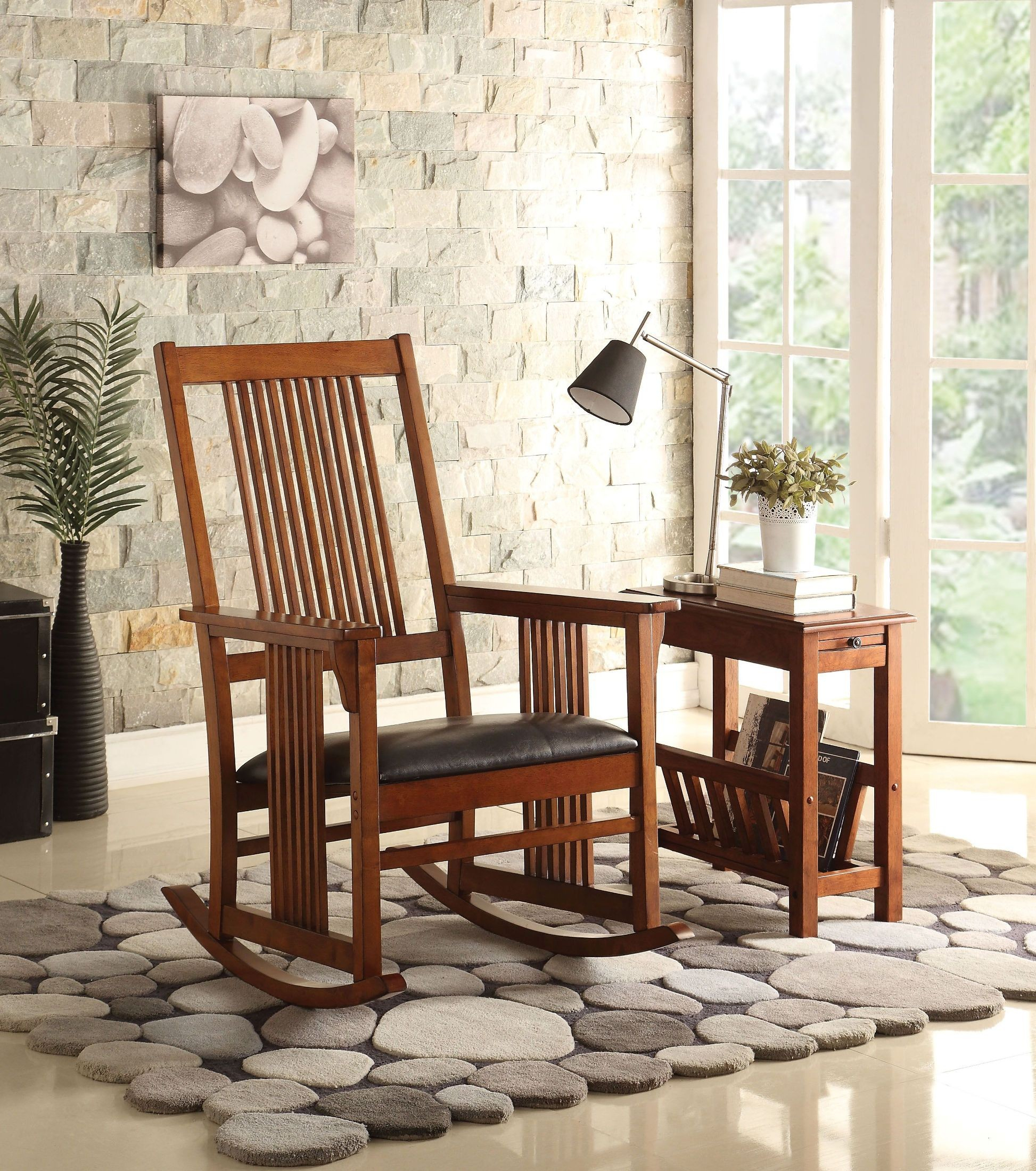 Kloris Tobacco Wooden Rocking Chair Intended For Tobacco Brown Wooden Rocking Chairs (#11 of 20)