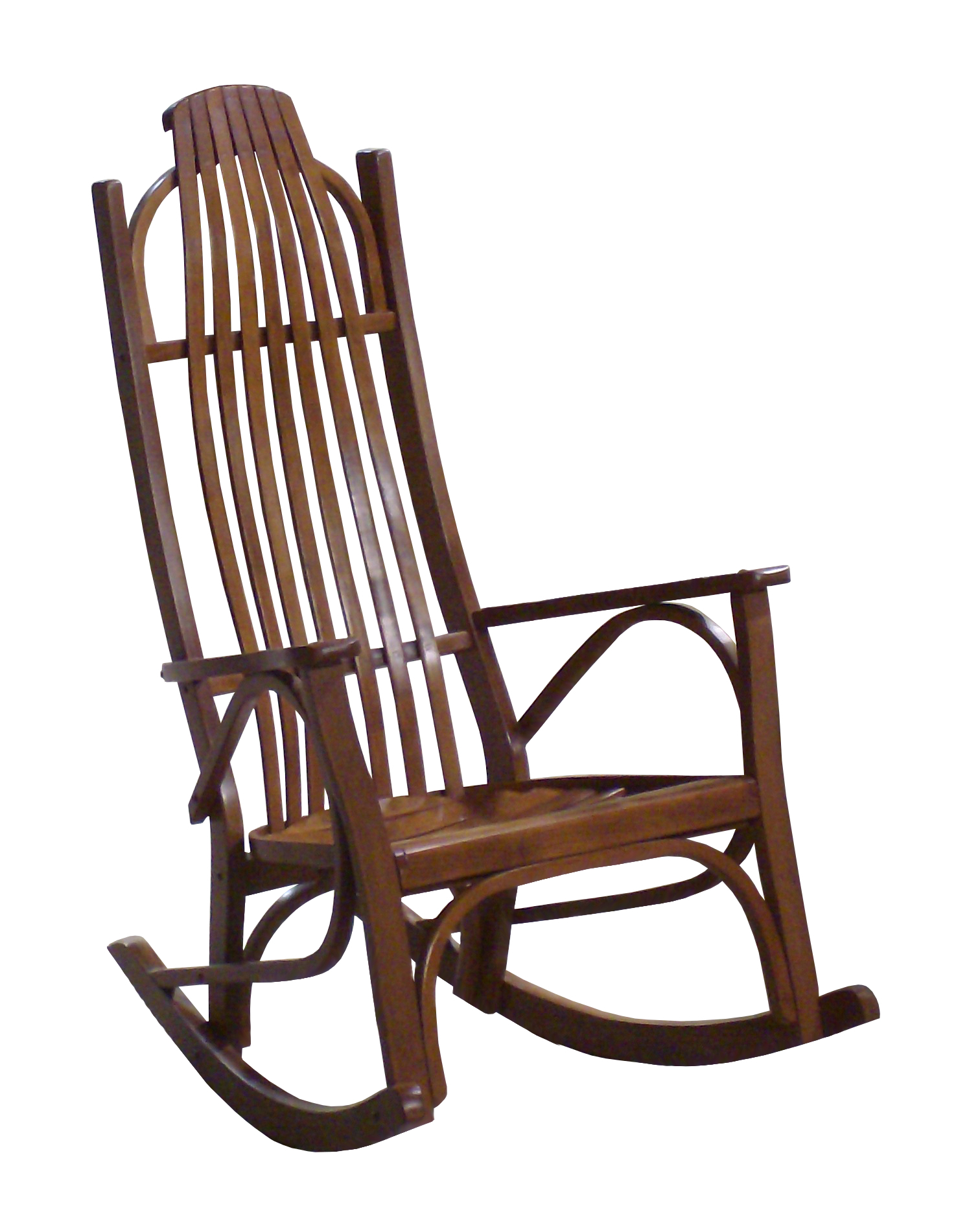 Large Arm Rocker Within Beige Fabric And Cherry Wood Rocking Chairs (View 3 of 20)