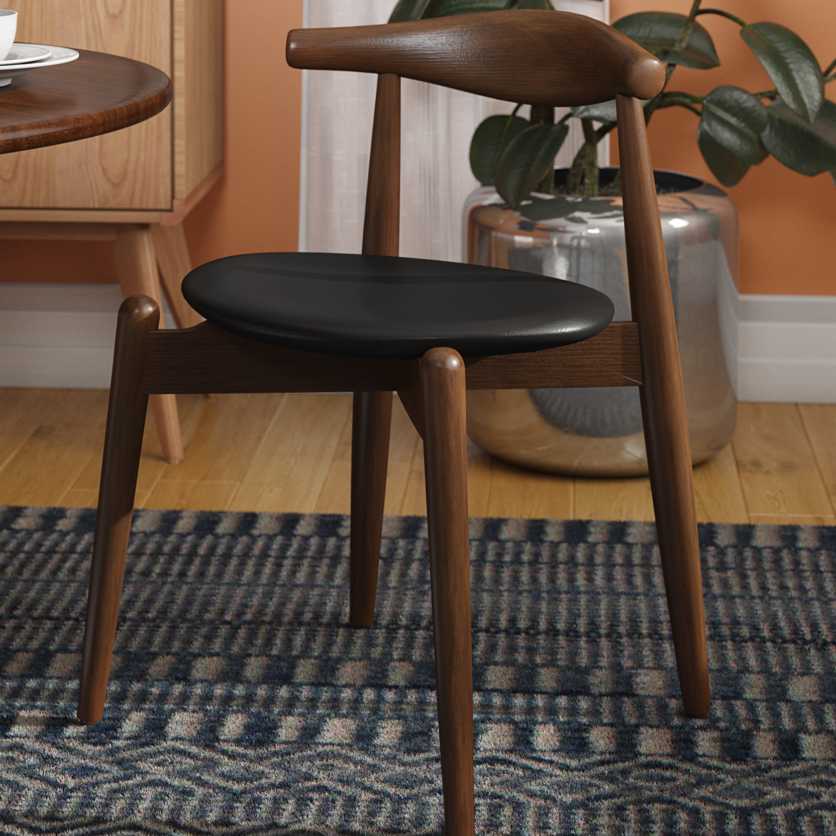 Lattice Back Side Chair | Wayfair With Regard To Carbon Loft Ariel Rocking Chairs In Espresso Pu And Walnut (View 18 of 20)