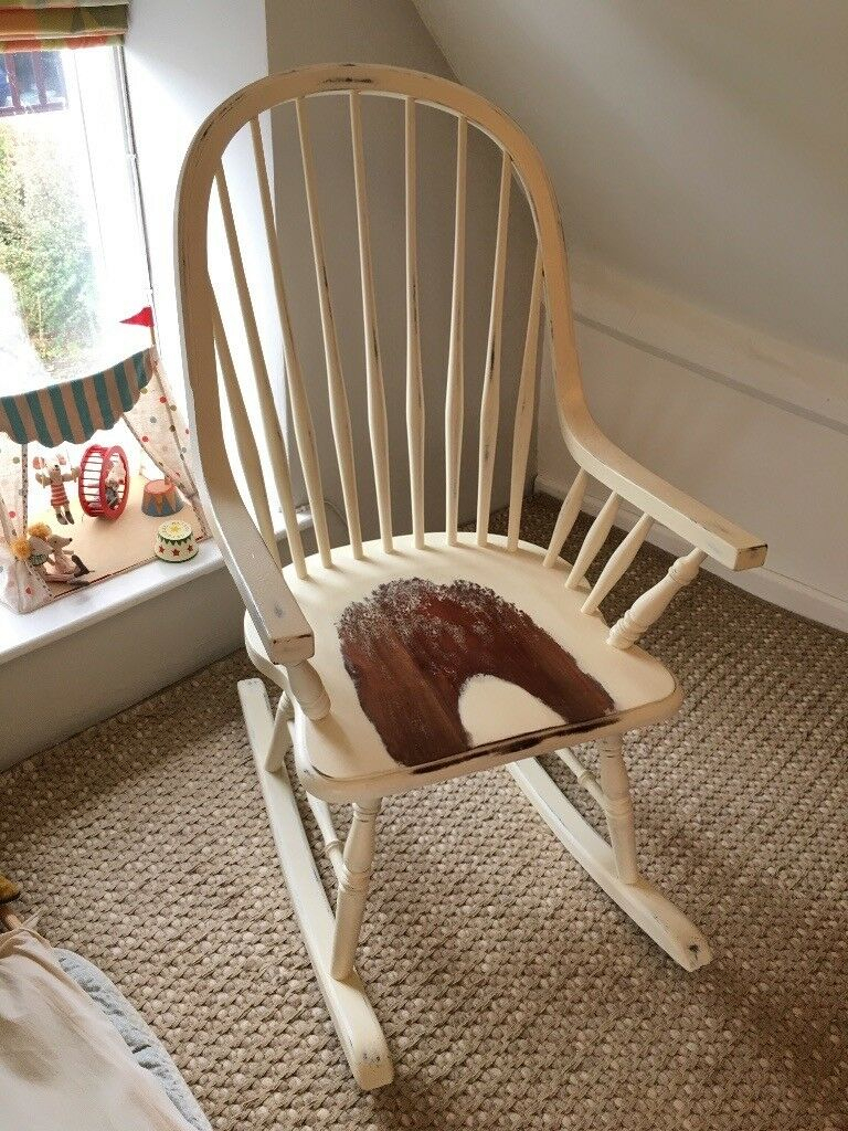 Laura Ashley Bramley Rocking Chair – Cream | In Badminton, Gloucestershire  | Gumtree For Rocking Chairs, Cream And Brown (#11 of 20)