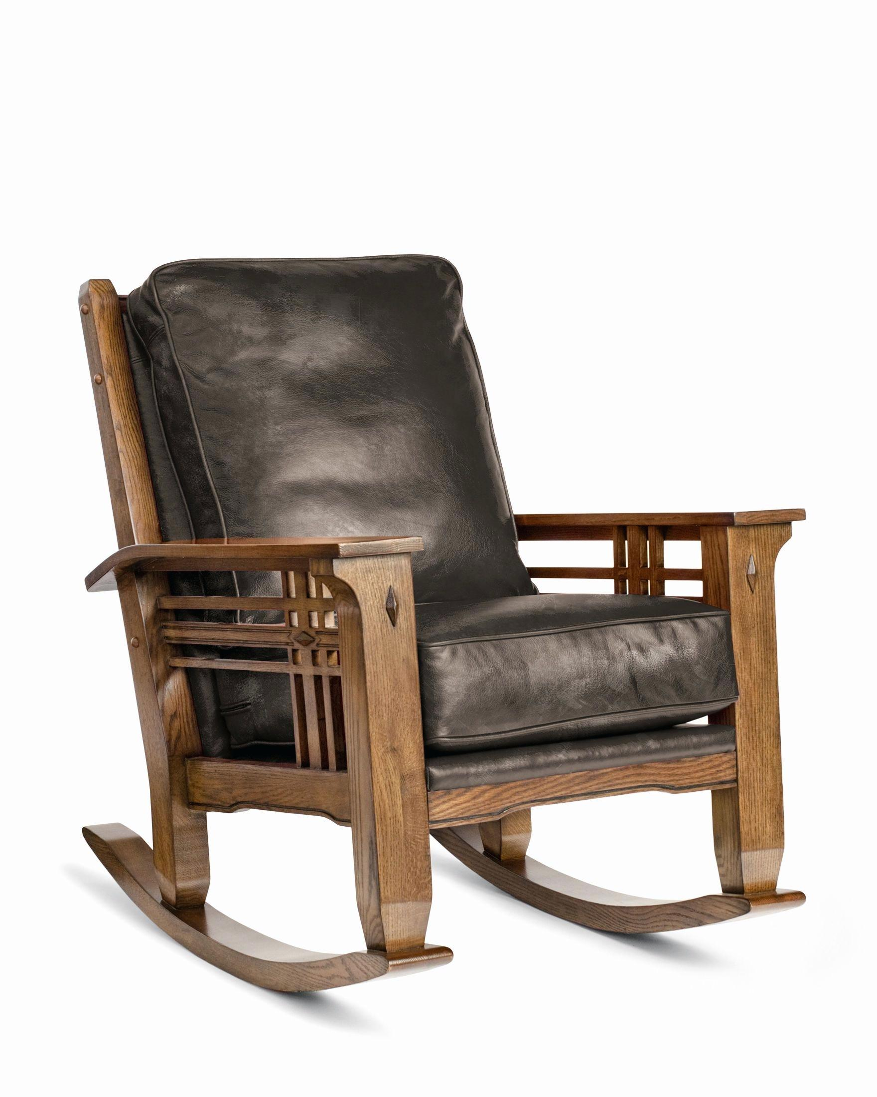 Leather Rocking Chair – Happyshaman Intended For Dark Oak Wooden Padded Faux Leather Rocking Chairs (#12 of 20)