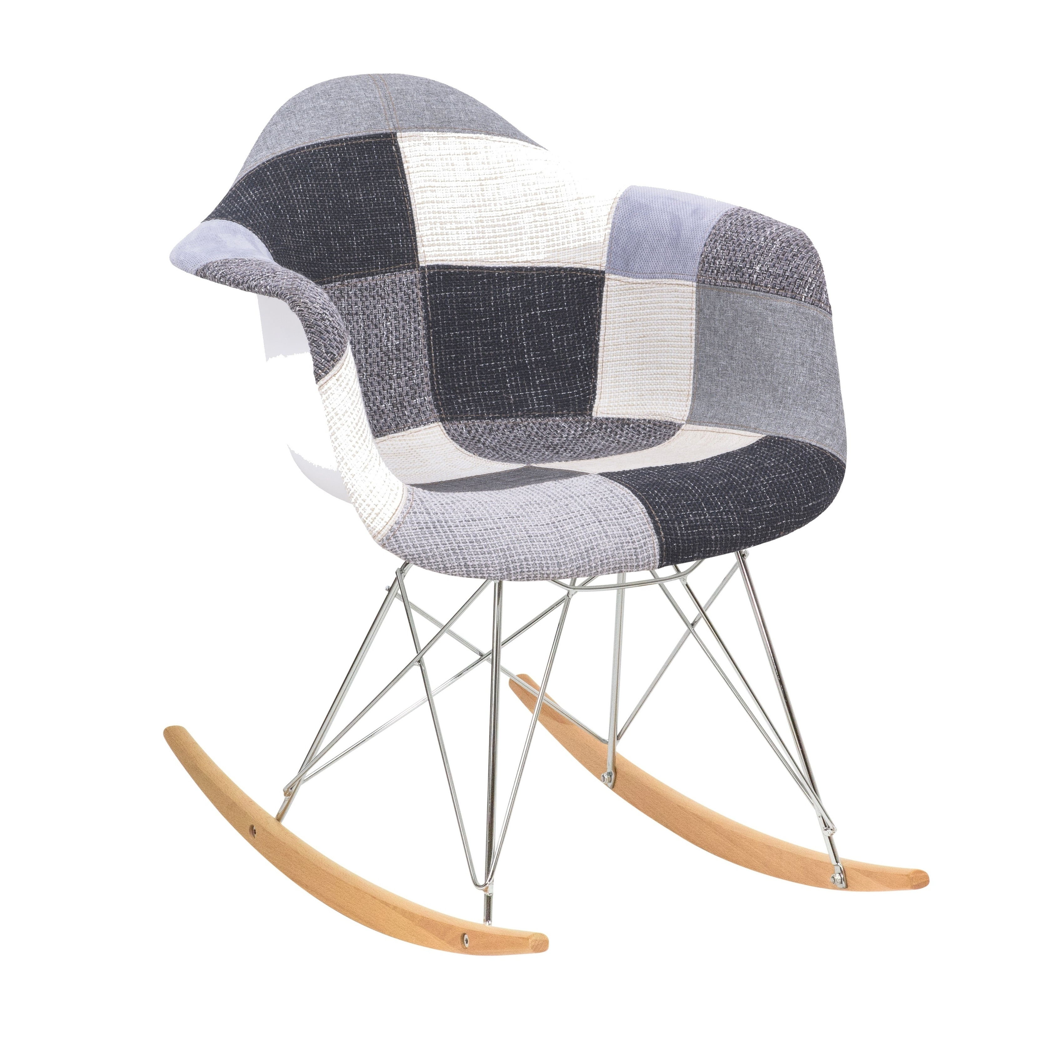 Popular Photo of Twill Fabric Multi Rocking Chairs With Eiffel Legs
