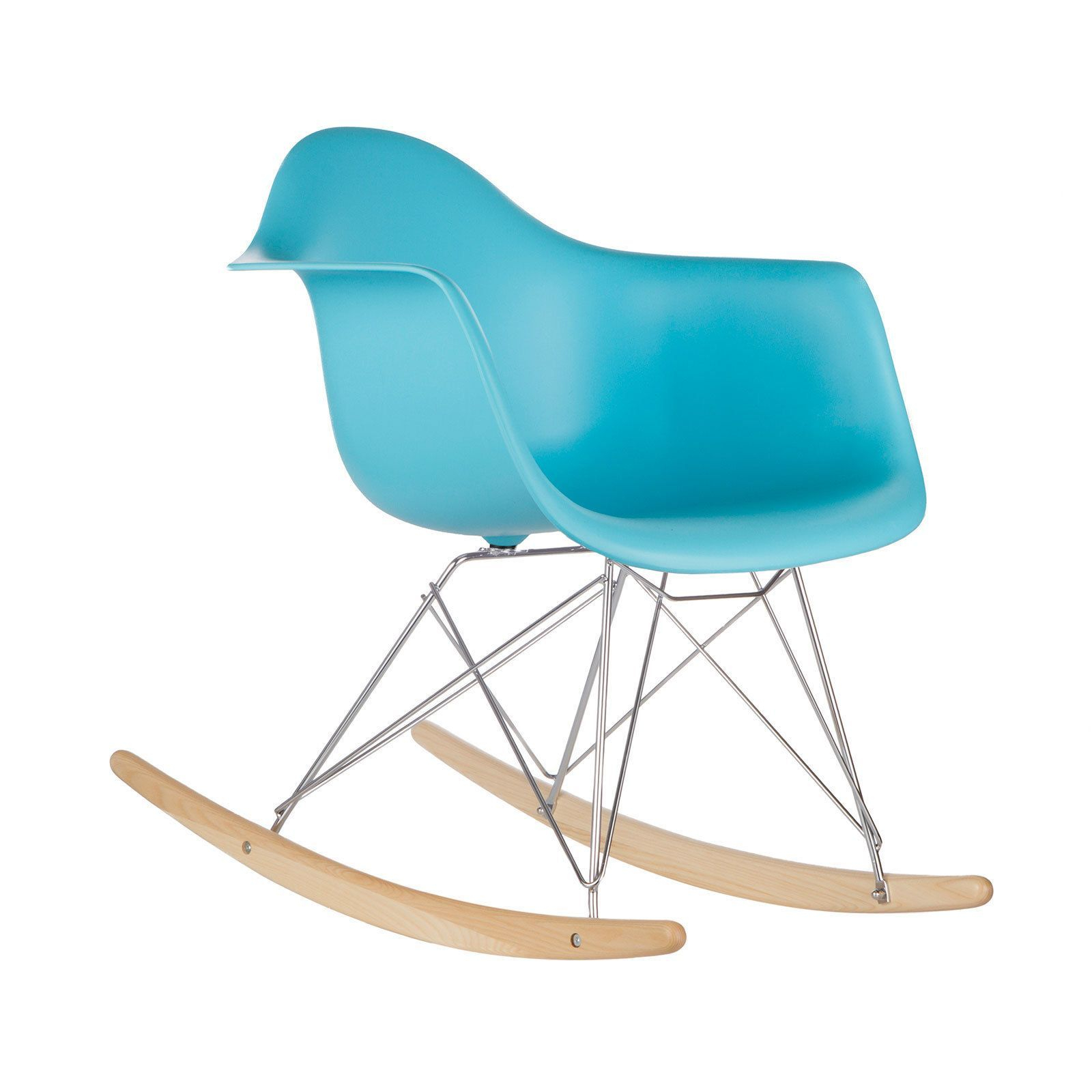 Light Society Edgemod Blue Rocker Lounge Chair (Blue) (Metal Regarding Poly And Bark Teal Rocking Chairs Lounge Chairs (View 4 of 20)