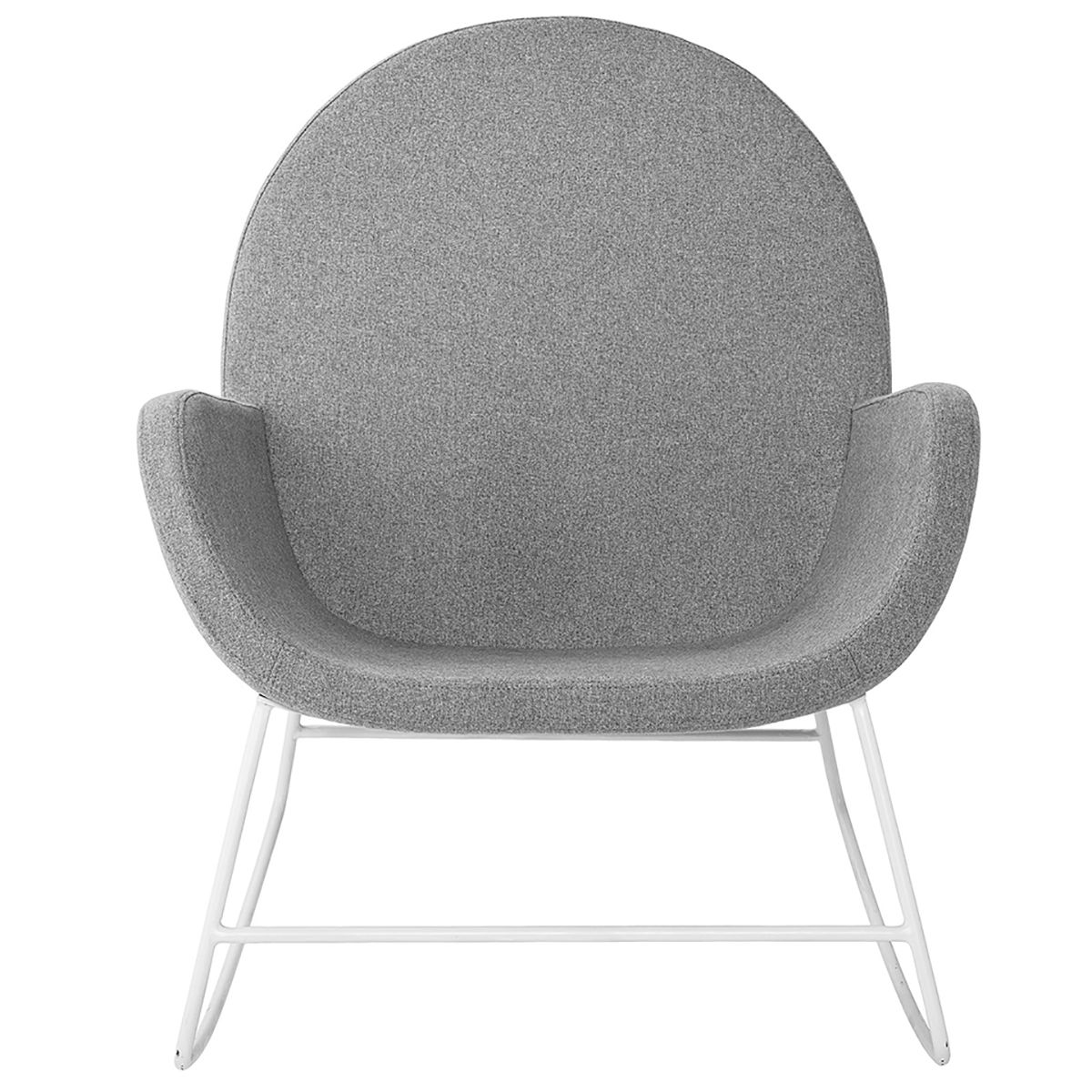 Liva Grey Rocking Chair Intended For Rocking Chairs & Lounge Chairs In Grey (View 7 of 20)