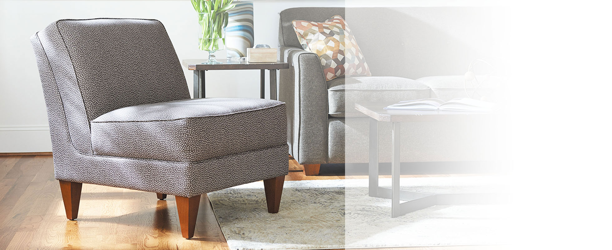 Living Room Chairs & Accent Chairs | La Z Boy In Modern Blue Fabric Rocking Arm Chairs (View 13 of 20)