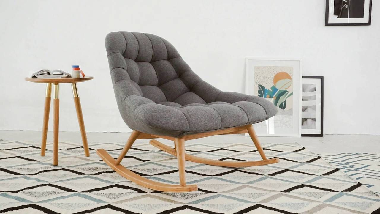 Inspiration about Made Marl Grey Lounge Chair | Kids | Teak Rocking Chair With Rocking Chairs & Lounge Chairs In Grey (#1 of 20)