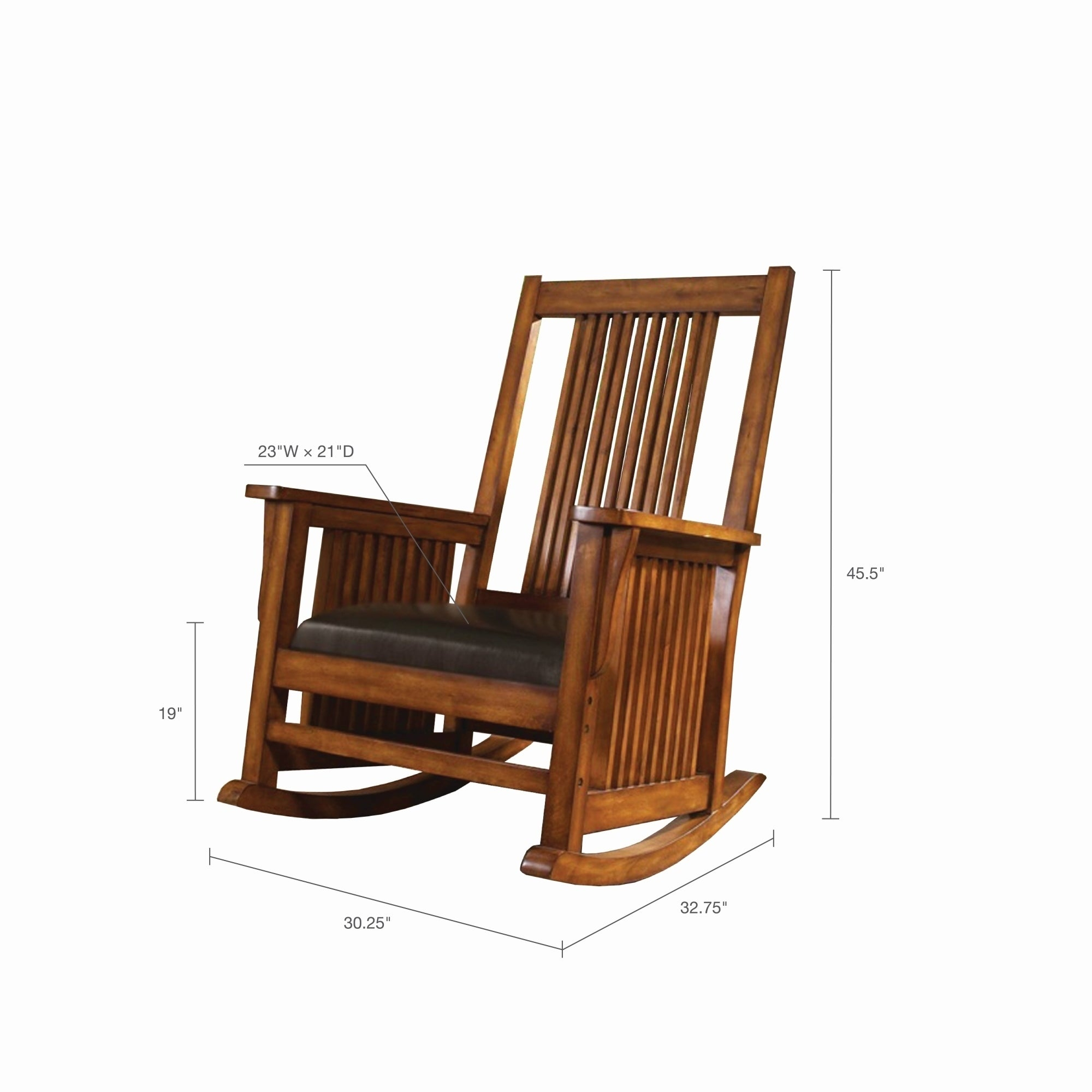 "Inspiration about Madison Park Raiston Brown Spindle Rocking Chair – 30.25""w X 32.75""d X  45.5""h Inside Luxury Mission Style Rocking Chairs (#16 of 20)"