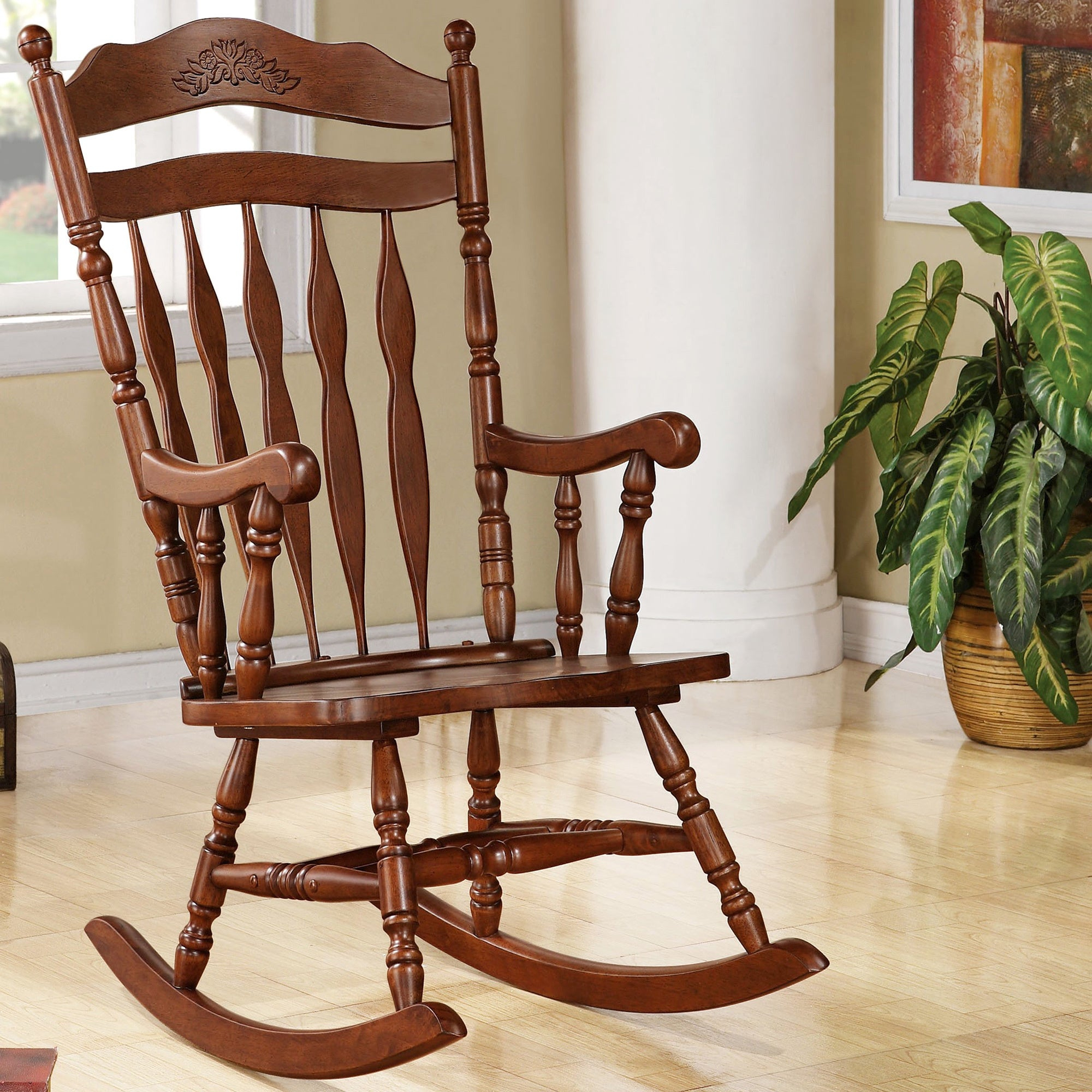 Inspiration about Madrone Windsor Country Style Rocking Chair Regarding Madrone Windsor Country Style Rocking Chairs (#1 of 20)
