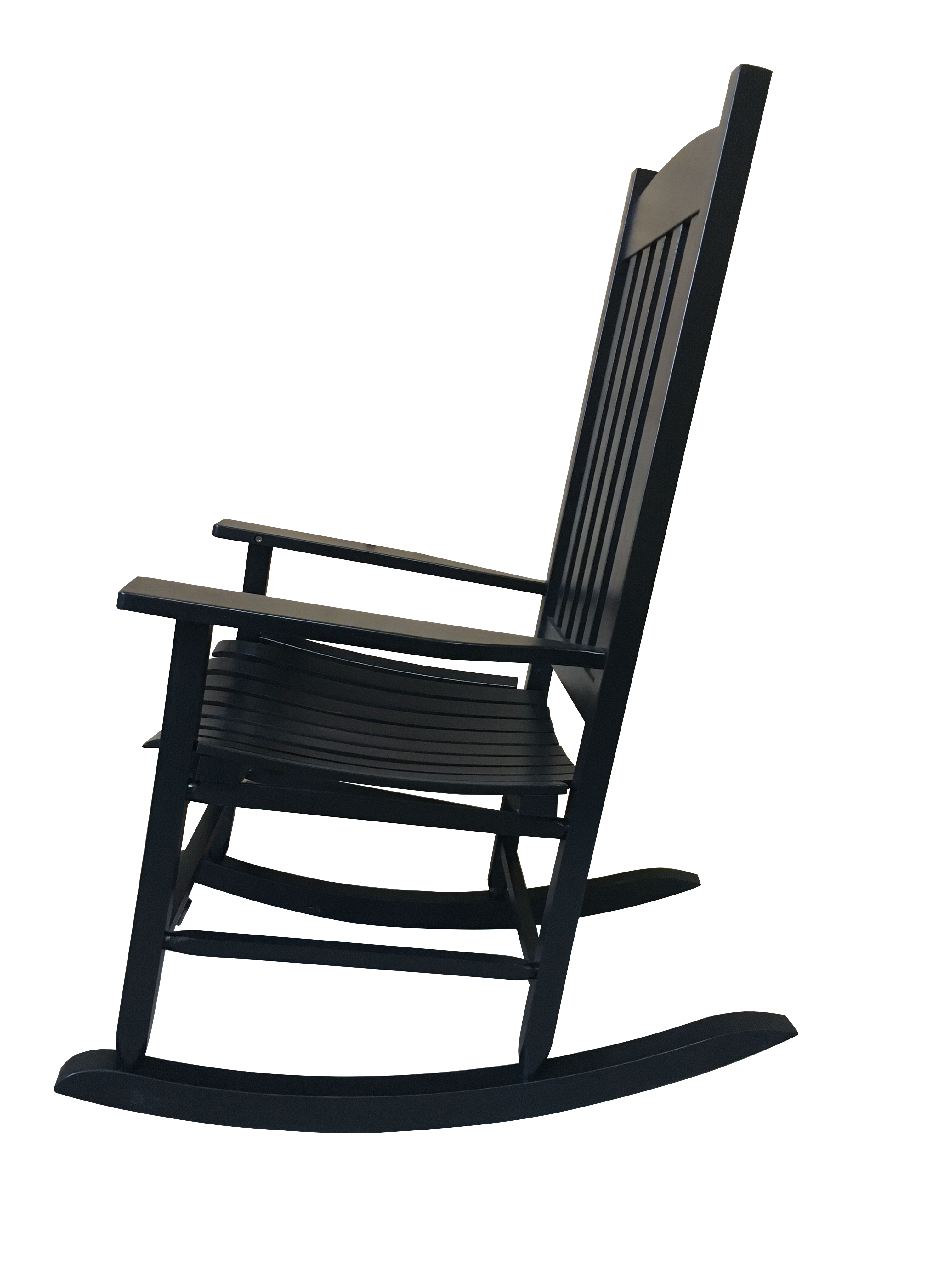 Inspiration about Mainstays Outdoor Wood Slat Rocking Chair For Black Rubberwood Rocking Chairs (#9 of 20)