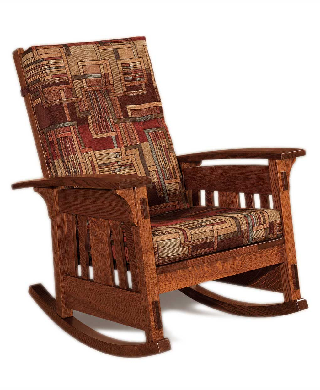 Inspiration about Mccoy Rocker Intended For Warm Brown Slat Back Rocking Chairs (#13 of 20)