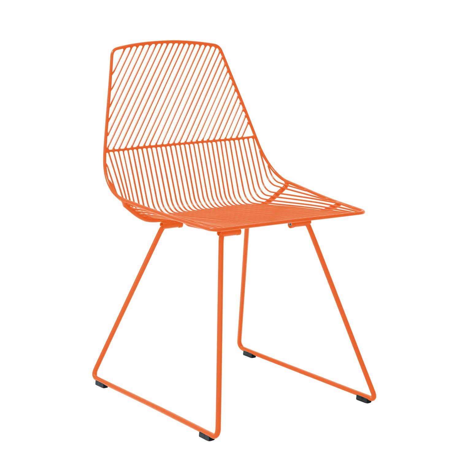 Inspiration about Memphis Styled Italian Stacking Wire Dining Chairsemu Intended For Ethel Country White Rocking Chairs (#19 of 20)