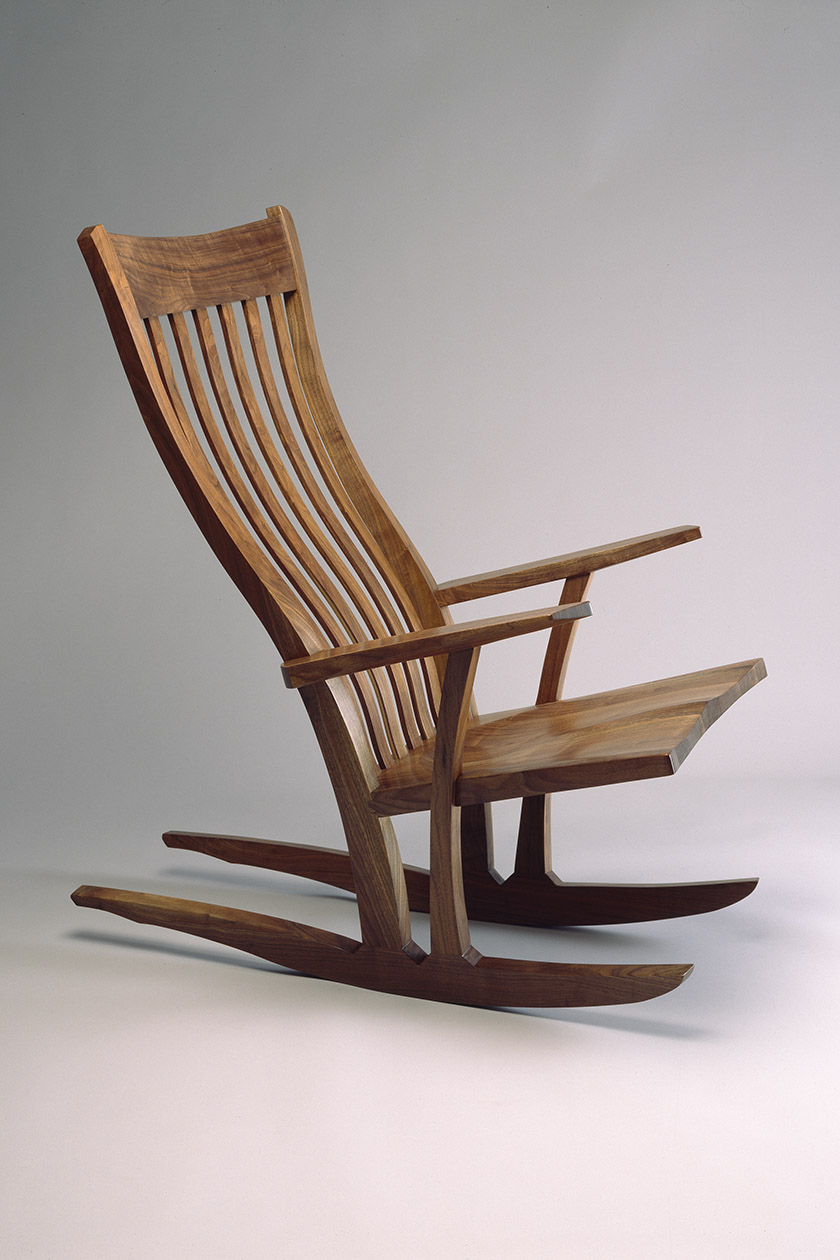 Inspiration about Mesa Rocking Chair | Custom Built Wood Rocking Chair – Seth Rolland Inside Walnut Wood Rocking Chairs (#2 of 20)
