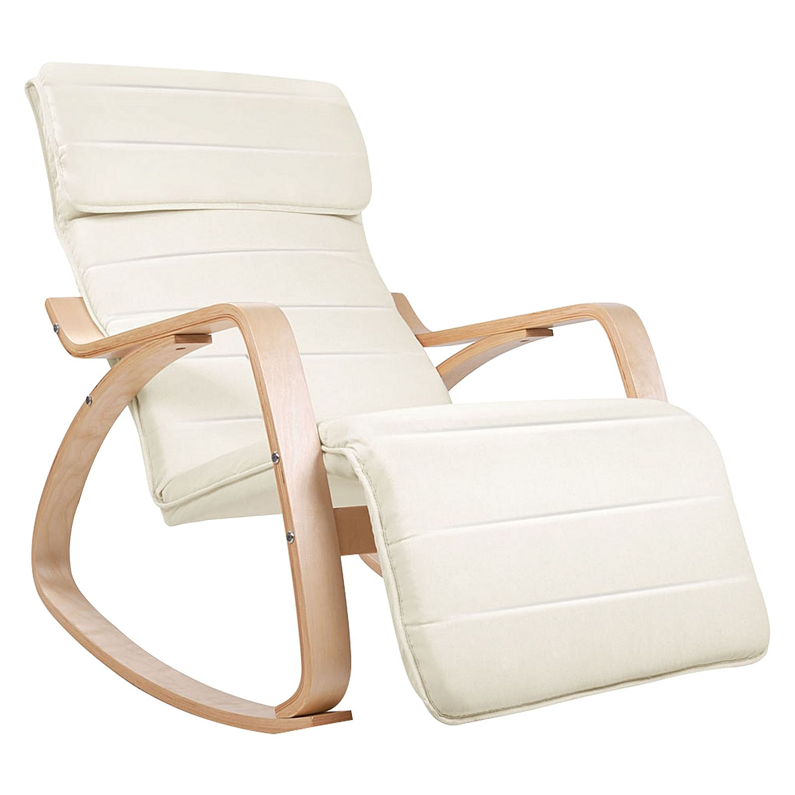 Inspiration about Micah Rocking Chair, Cream For Rocking Chairs, Cream And Brown (#20 of 20)