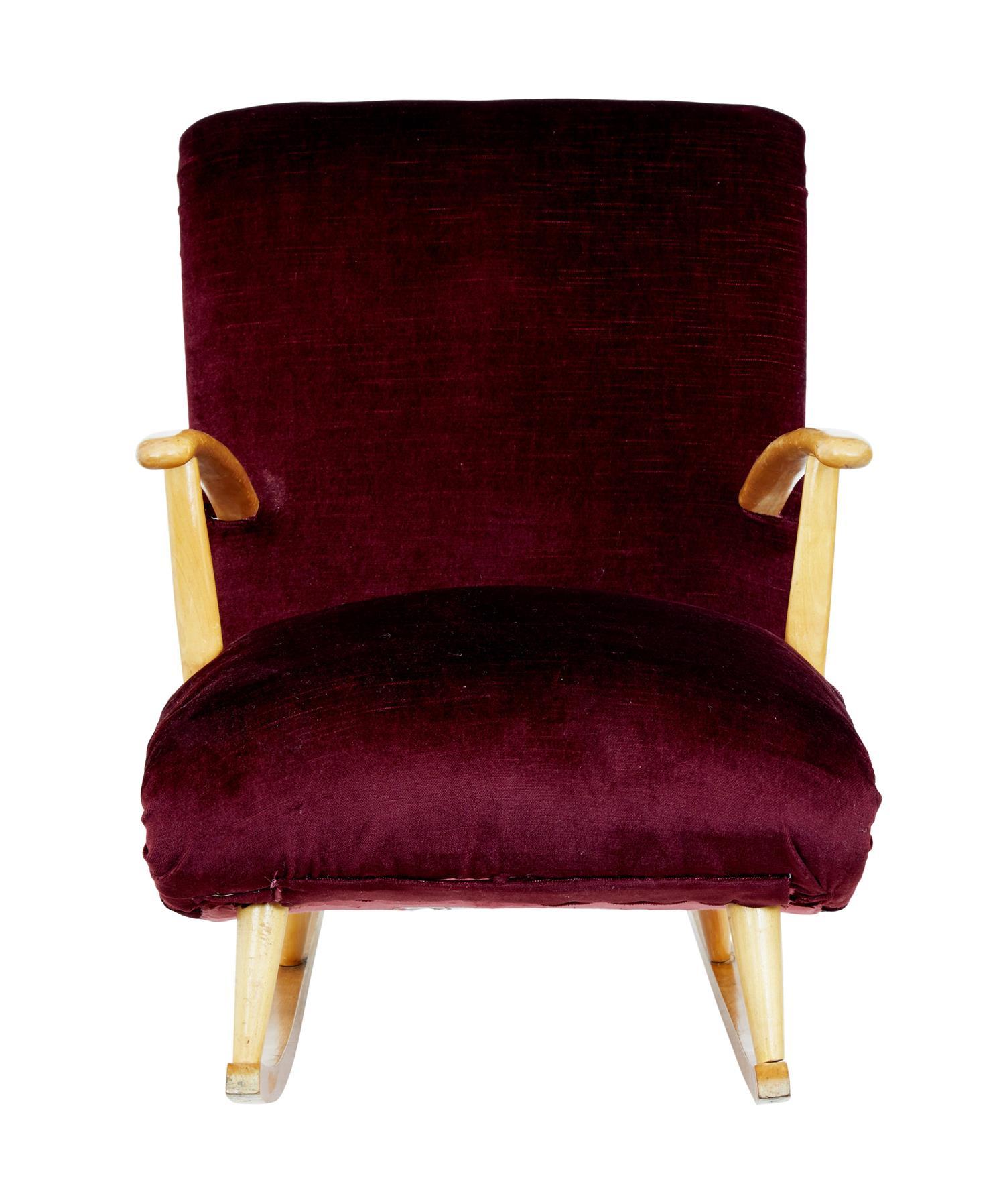 Inspiration about Mid 20Th Century Scandinavian Modern Birch Rocking Chair Inside Mid Century Birch Rocking Chairs (#17 of 20)