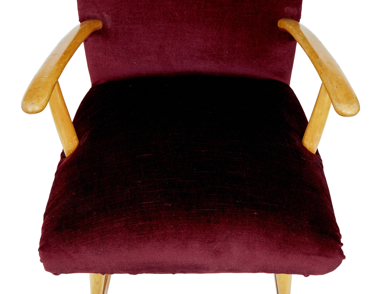 Mid 20Th Century Scandinavian Modern Birch Rocking Chair Intended For Mid Century Birch Rocking Chairs (#12 of 20)