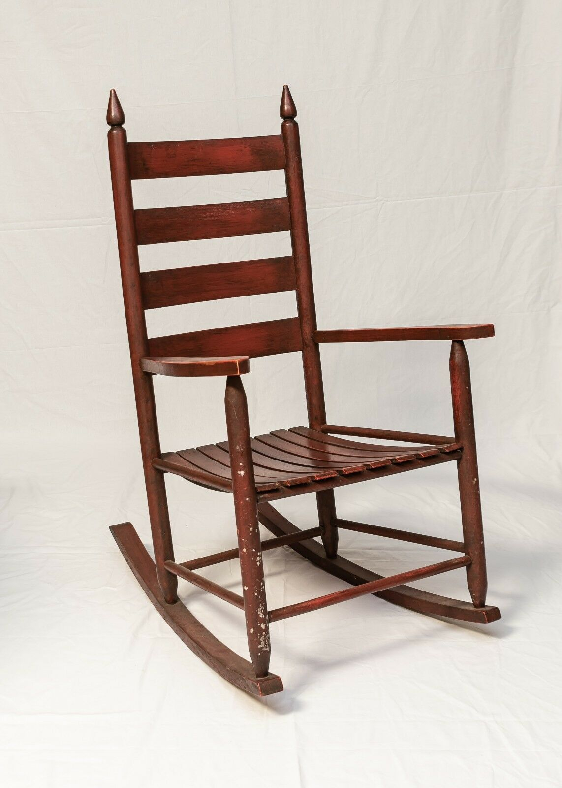 Inspiration about Mid 20Th Century Vintage American Ladder Back Rocking Chair Pertaining To Tobacco Brown Wooden Rocking Chairs (#8 of 20)