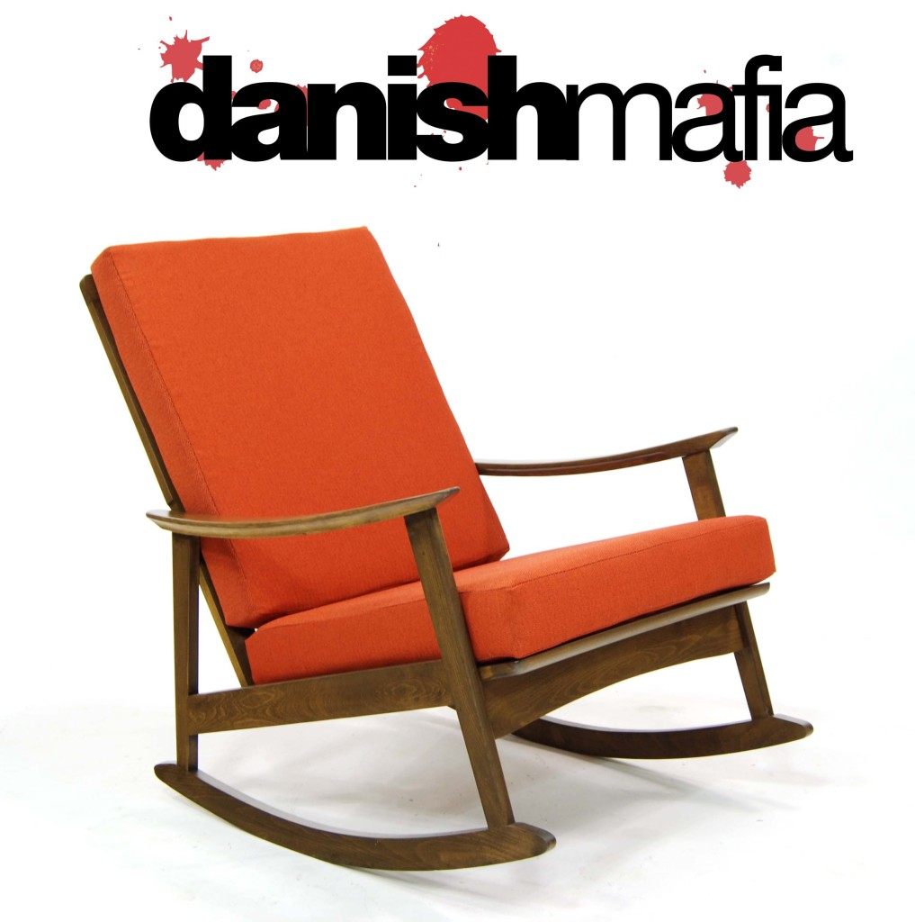 Mid Century Danish Modern Rocking Chair | Danish Mafia With Regard To Mid Century Fabric Rocking Chairs (#12 of 20)