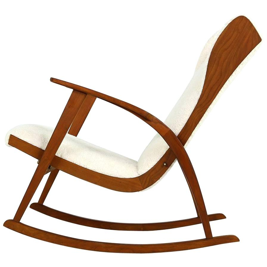 Inspiration about Mid Century Modern Wood Rocking Chair Carson Carrington Within Granite Grey Fabric Mid Century Wooden Rocking Chairs (#15 of 20)