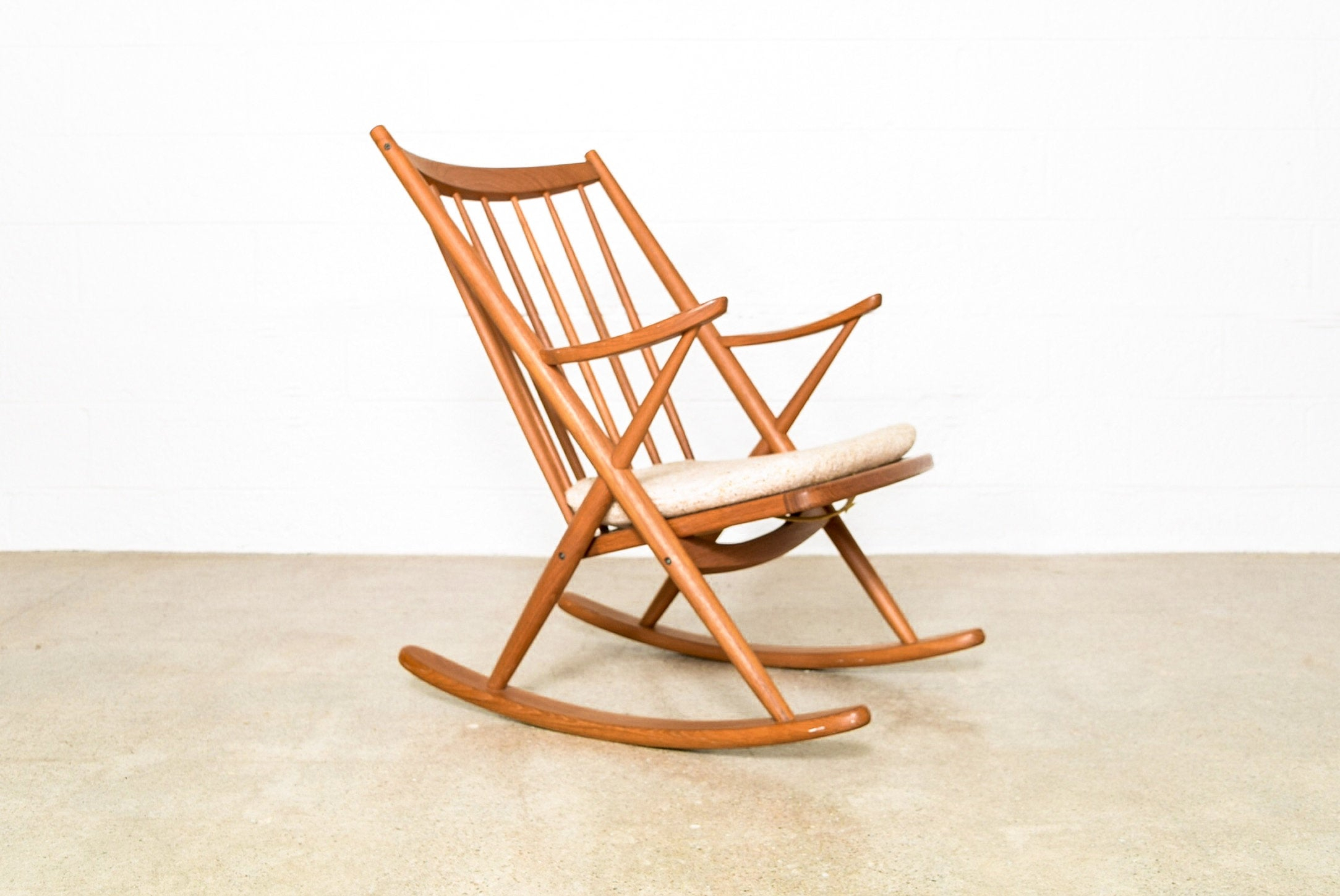 Inspiration about Mid Century Rocking Chair, Wood Rocker, Danish Modern Frank Reenskaug For  Bramin Rocker, Vintage Pertaining To Nevies Mid Century Modern Fabric Rocking Chairs (#17 of 20)