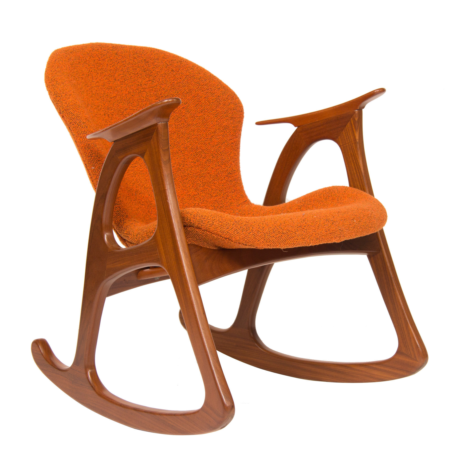 Inspiration about Midcentury Rocking Chairaage Christiansen For Erhardsen Andersen Pertaining To Nevies Mid Century Modern Fabric Rocking Chairs (#20 of 20)