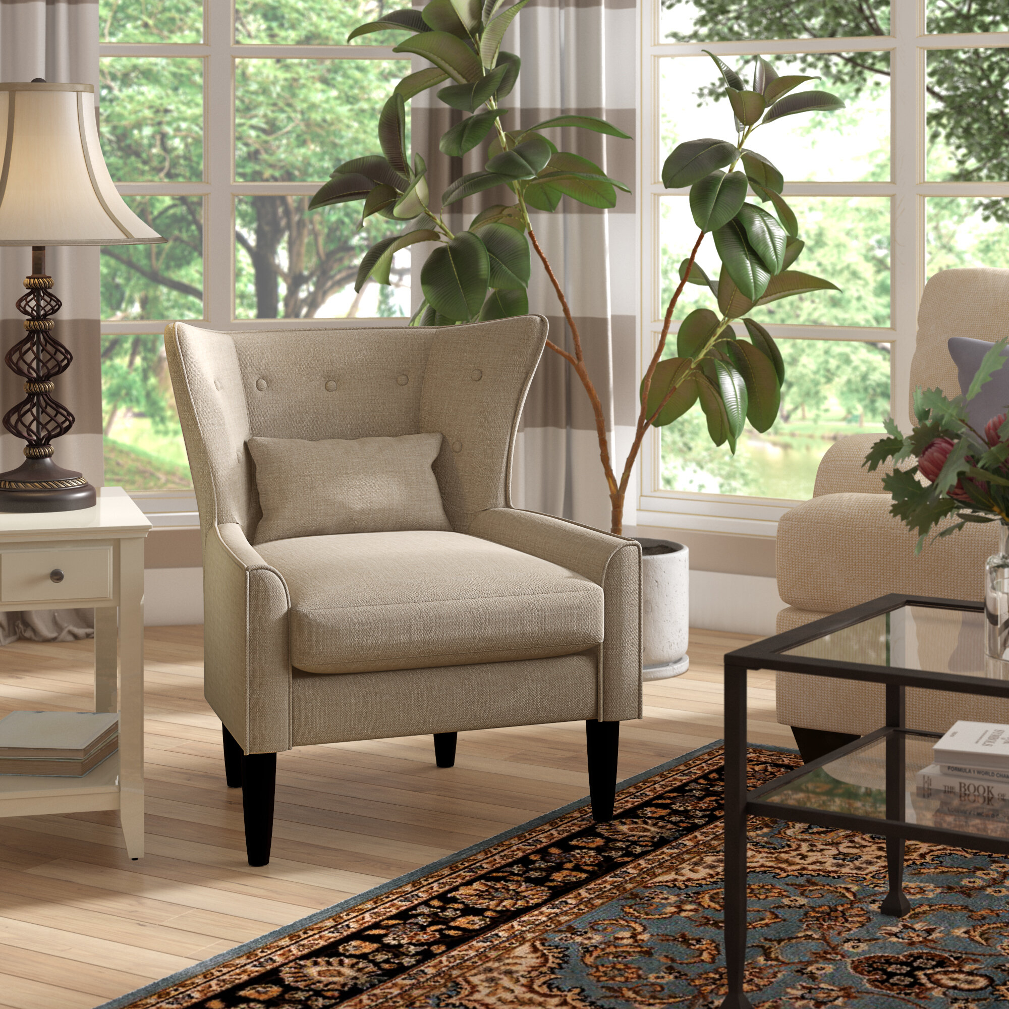 Inspiration about Millett Wingback Chair Throughout Ethel Country White Rocking Chairs (#20 of 20)