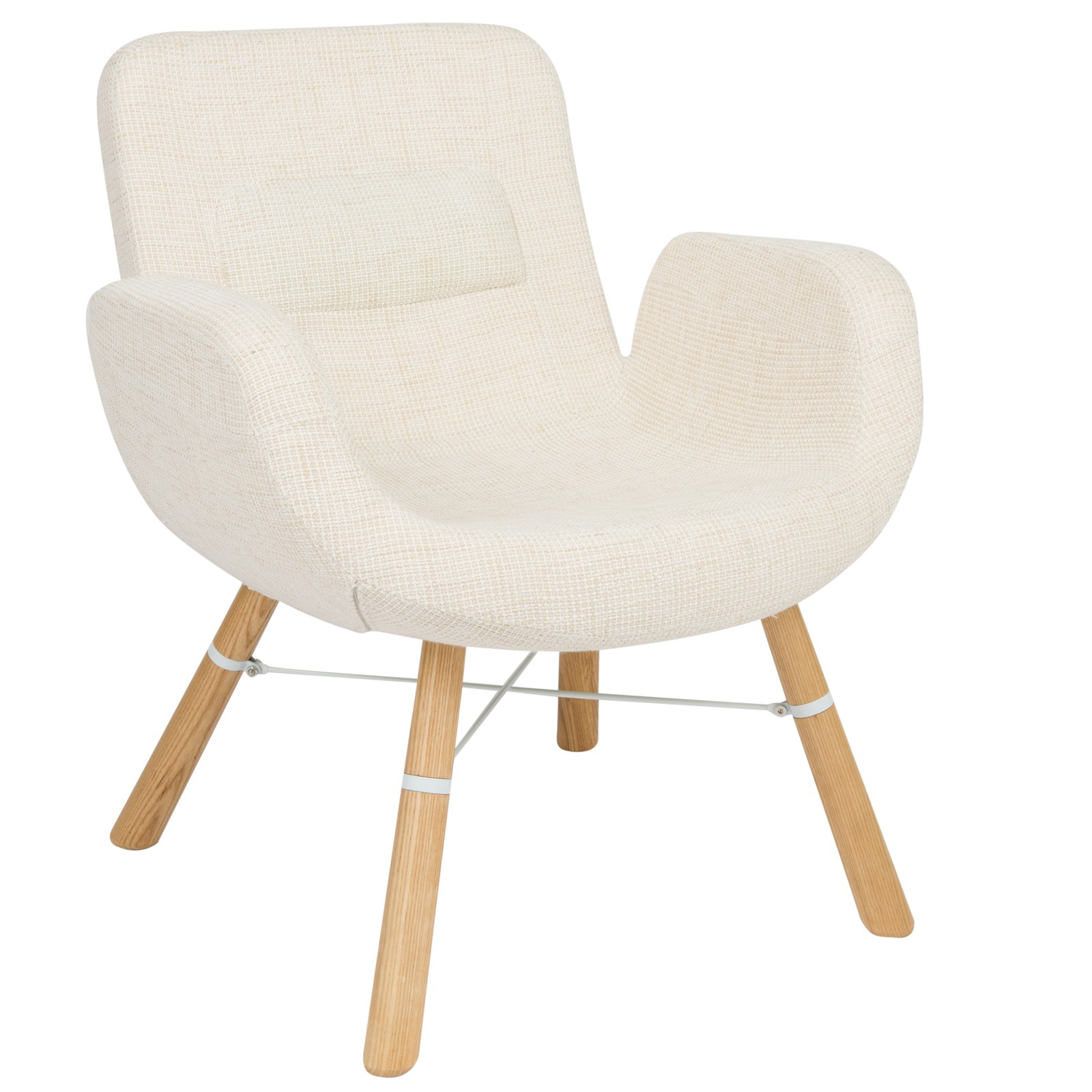 Inspiration about Milwood Accent Chair W/ Dowel Legs In Beige – Chairs With Regard To Twill Fabric Beige Rocking Chairs With Eiffel Legs (#20 of 20)
