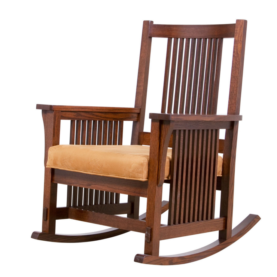 Inspiration about Mission Rocking Chair – Home Envy: Edmonton Furniture Stores For Mission Design Wood Rocking Chairs With Brown Leather Seat (#6 of 20)